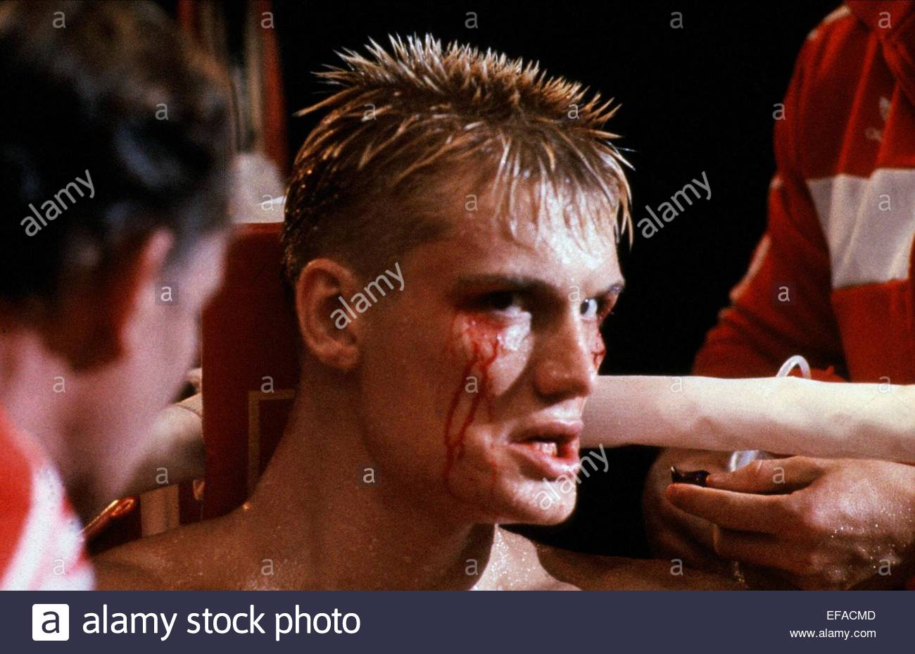 DOLPH LUNDGREN ROCKY IV (1985) - Stock Image