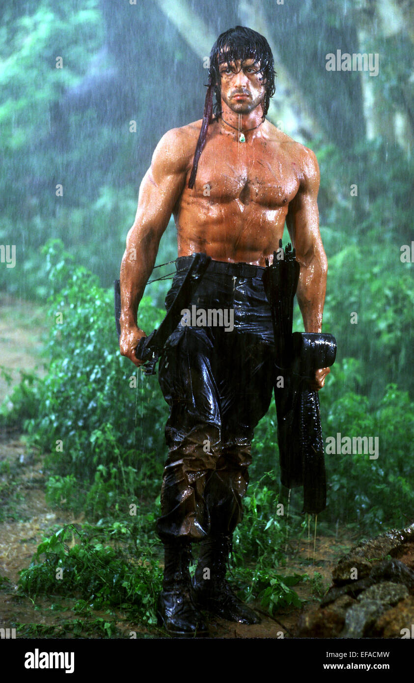 SYLVESTER STALLONE RAMBO: FIRST BLOOD PART II (1985) - Stock Image