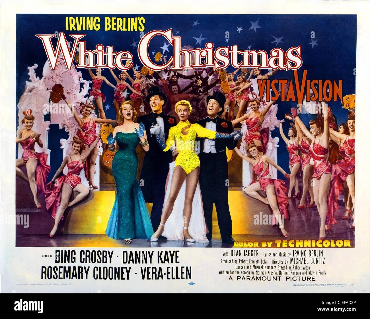 Rosemary Clooney Danny Kaye Vera Ellen Bing Crosby White Christmas 1954