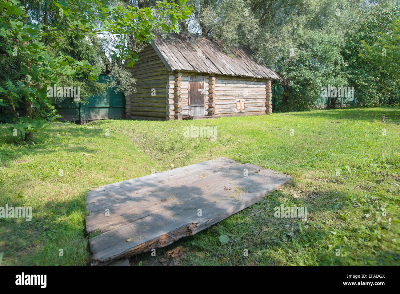 Old bathhouse of the house-museum of FM Dostoevsky, Staraya Russa, Russia - Stock Image