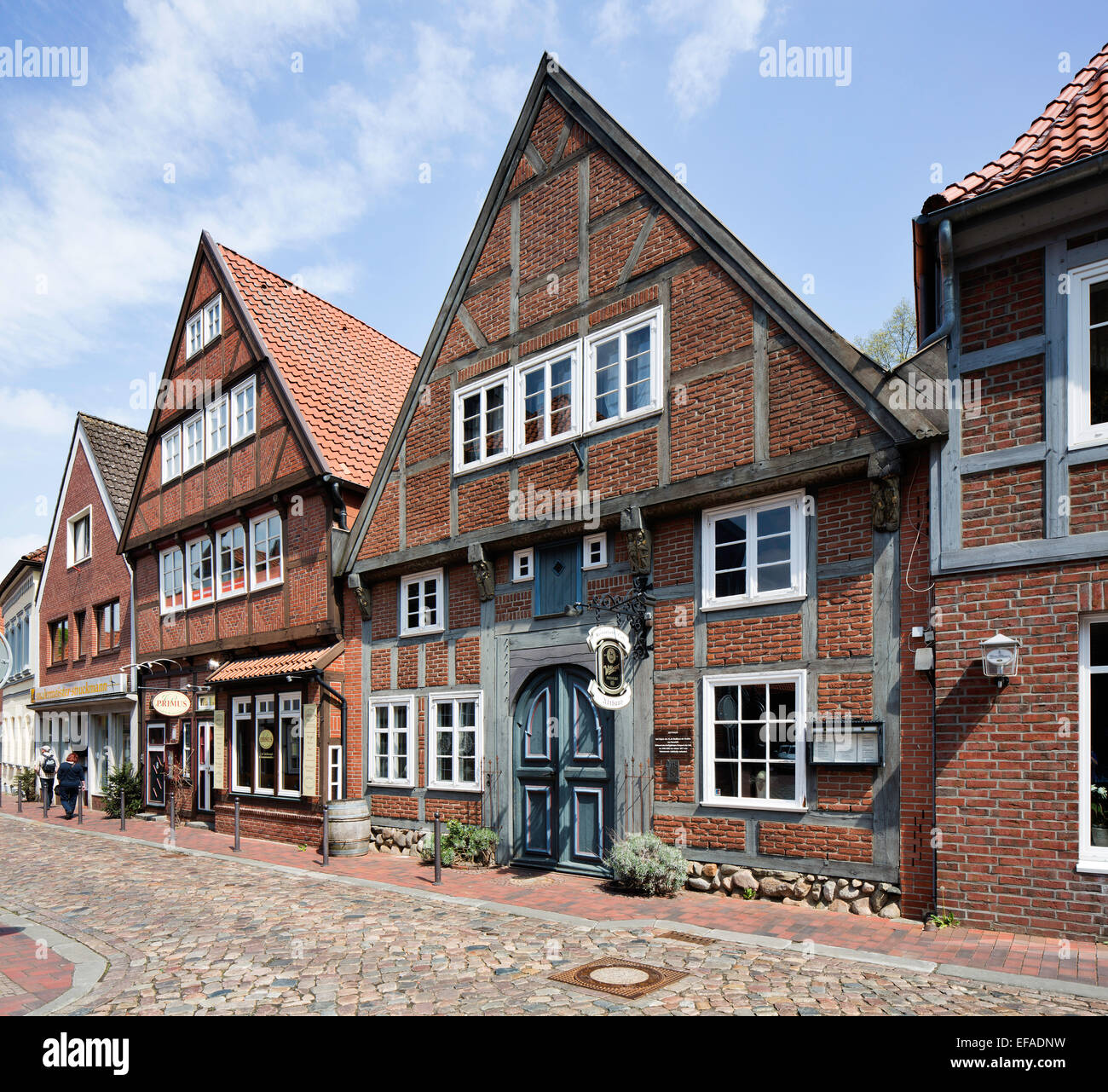 Abthaus building, historic centre, Buxtehude, Altes Land, Lower Saxony, Germany - Stock Image