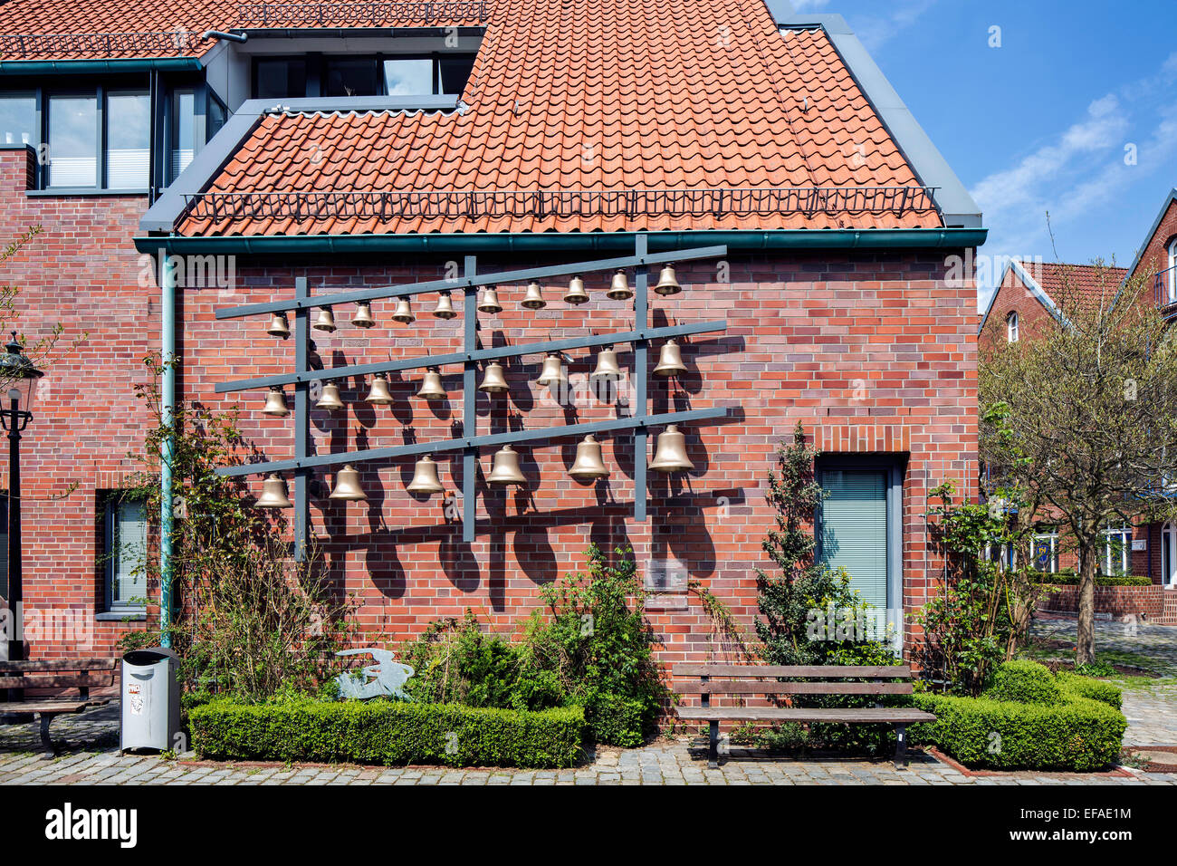 Carillon, Stavenort, Buxtehude, Altes Land, Lower Saxony, Germany - Stock Image