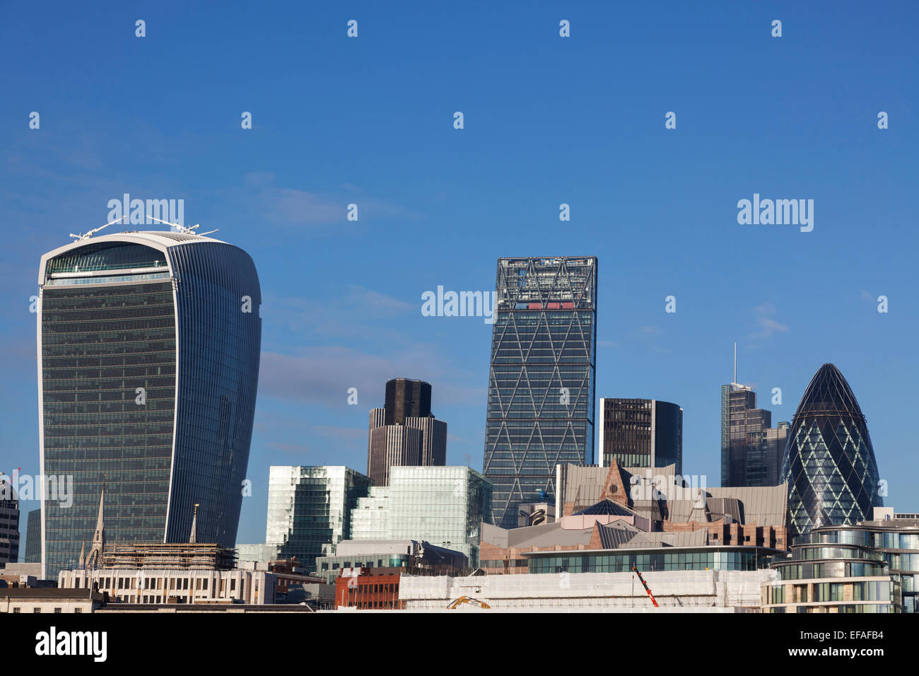City of London skyline taken from the South Bank, UK. - Stock Image