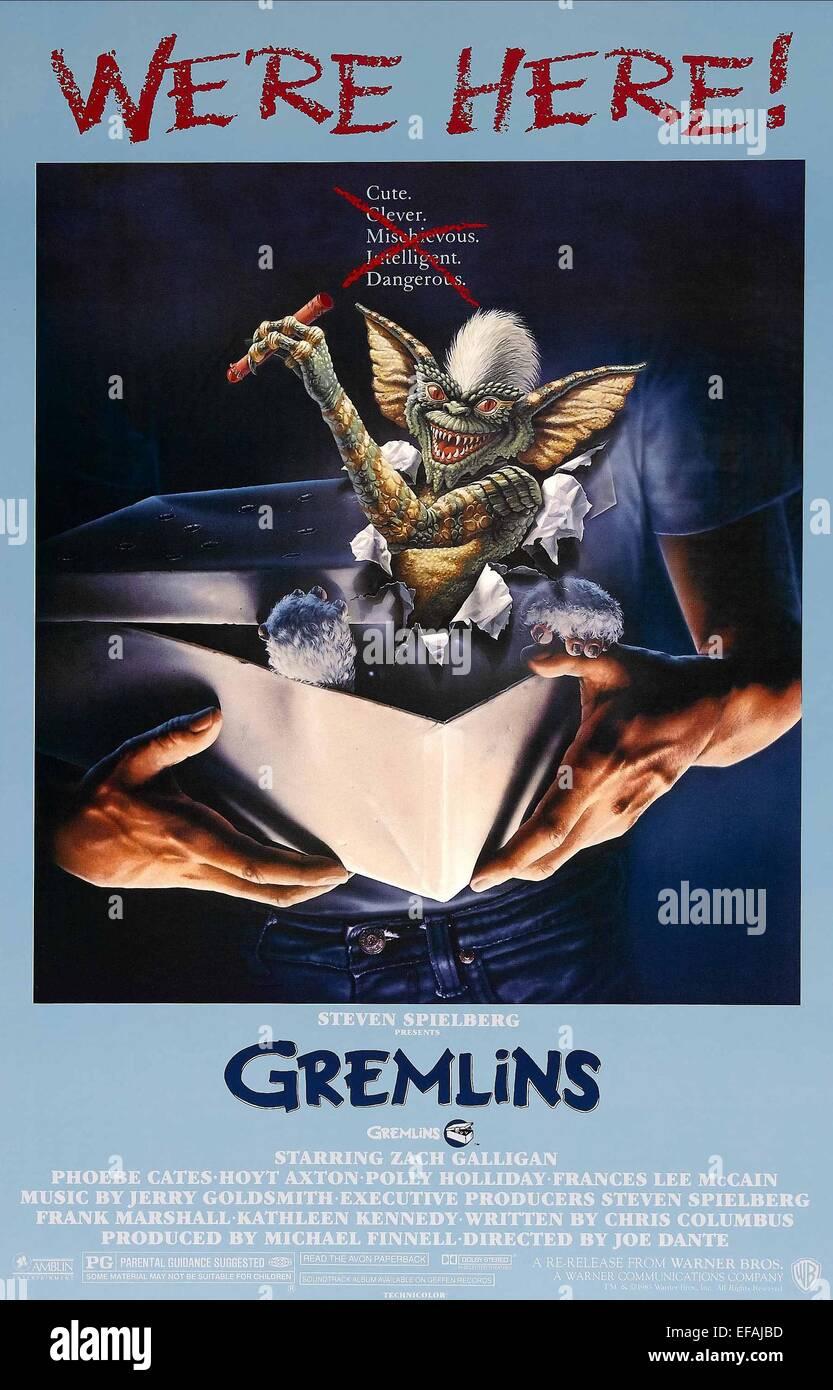 Movie Poster Gremlins 1984 Stock Photo 78295265 Alamy