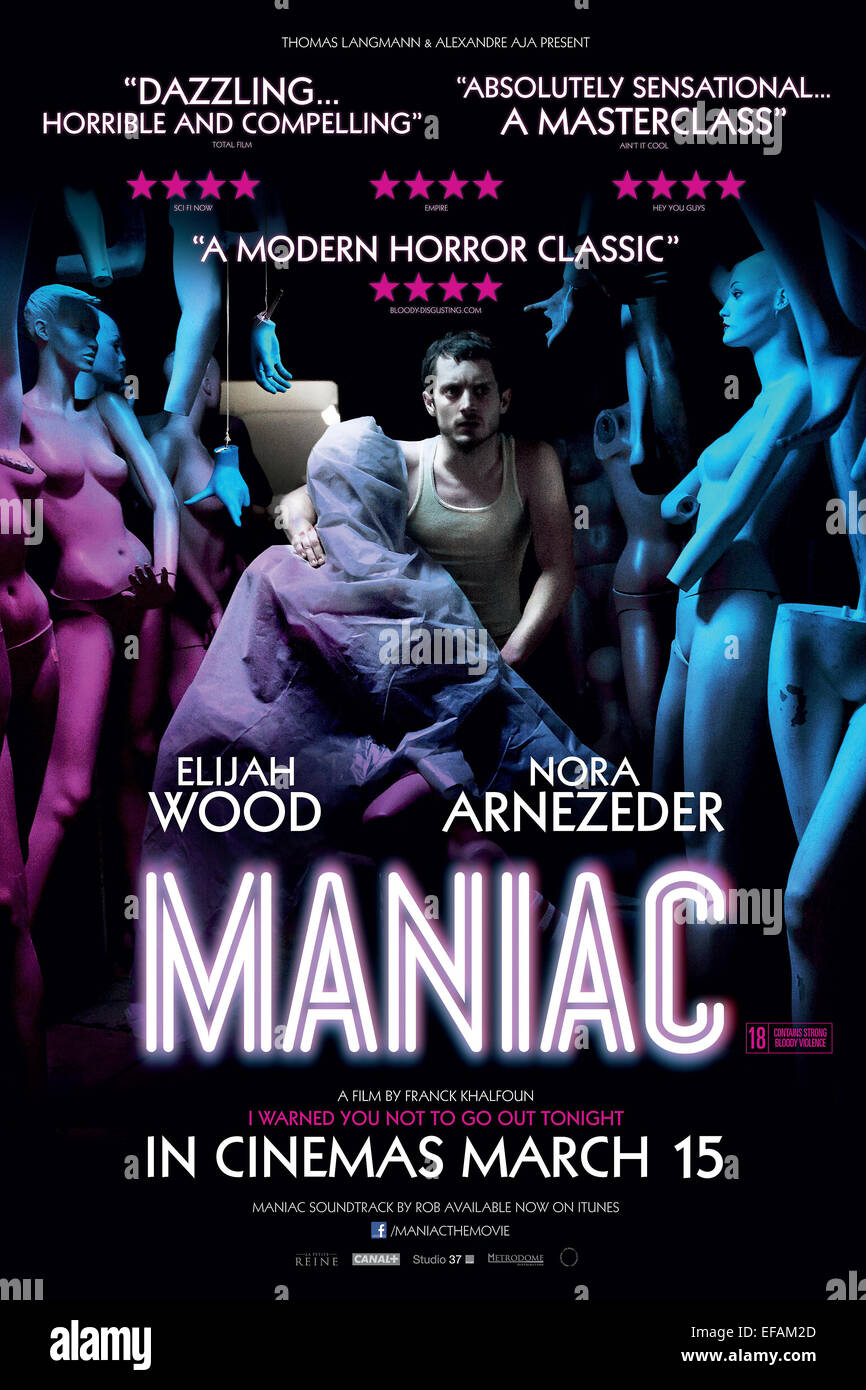 ELIJAH WOOD POSTER MANIAC (2012) - Stock Image