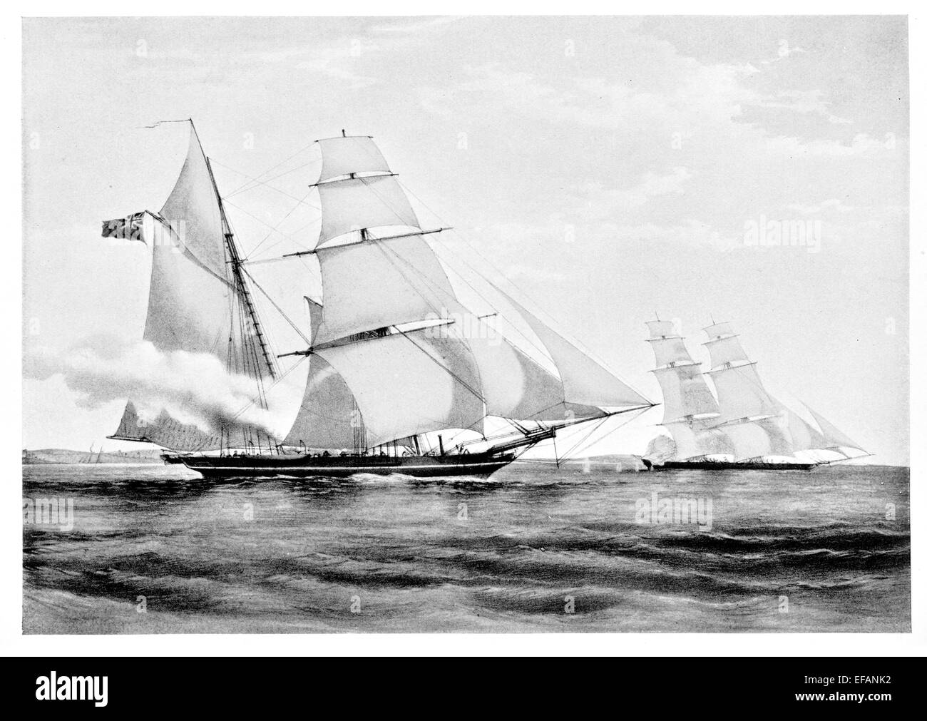 H.M. Brigantine Dolphin 3 gun 1836. Served against Slave Trade West Coast Africa Then 1861 to 71.  Customs vessel - Stock Image