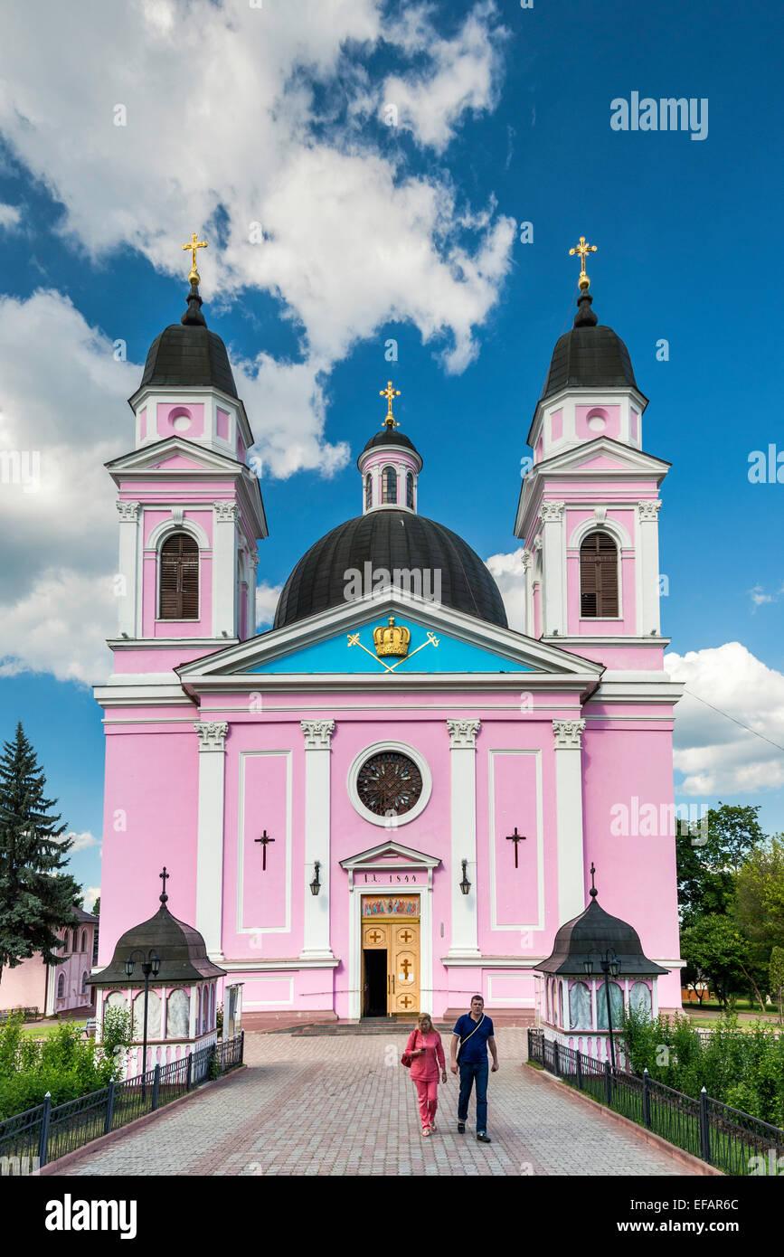 Holy Spirit Orthodox Cathedral in Chernivtsi, Bukovina Region, Ukraine - Stock Image