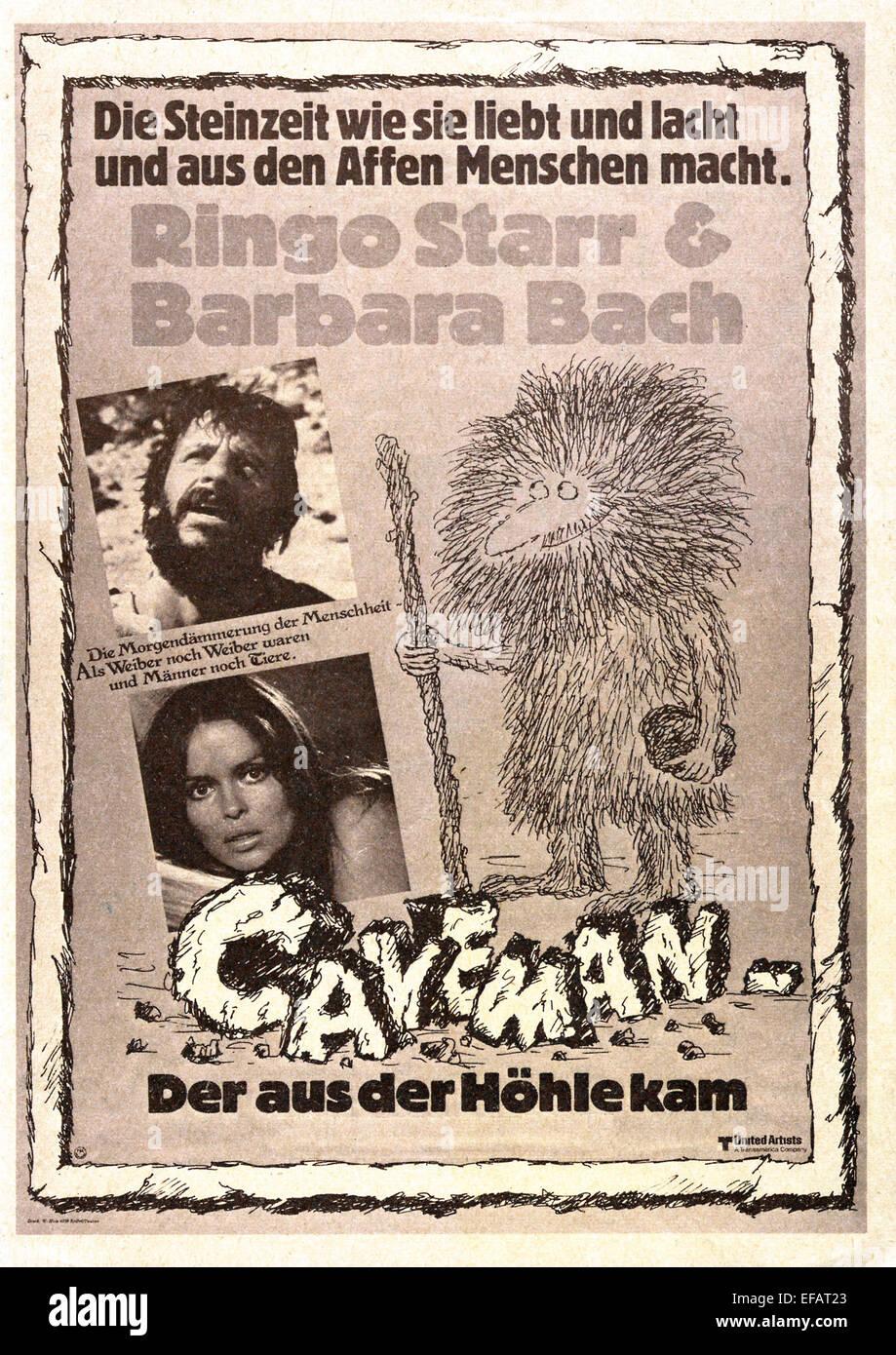MOVIE POSTER CAVEMAN (1981) - Stock Image