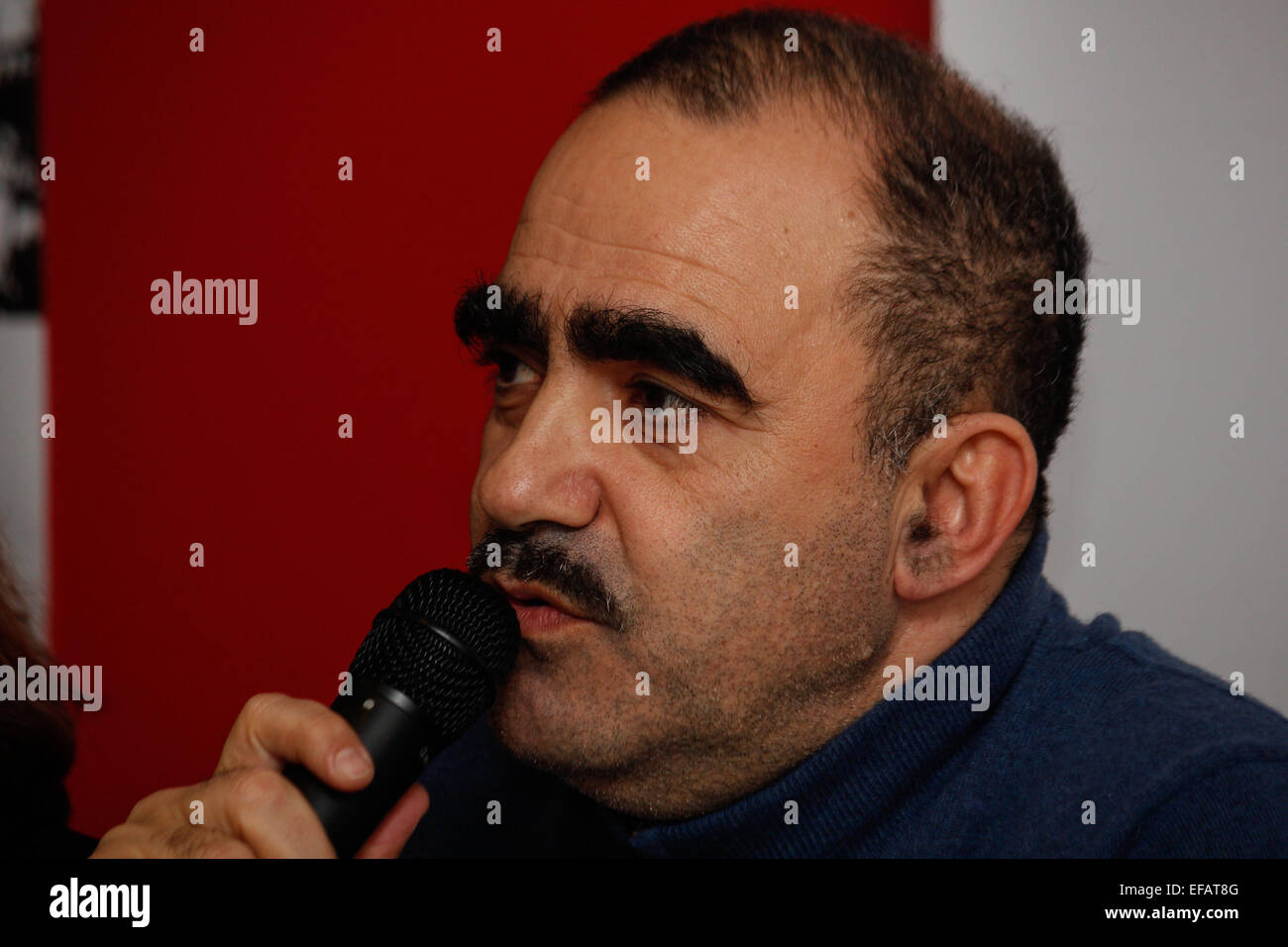 Elio of the Italian band Elio e Le Storie Tese present their latest Stock  Photo - Alamy