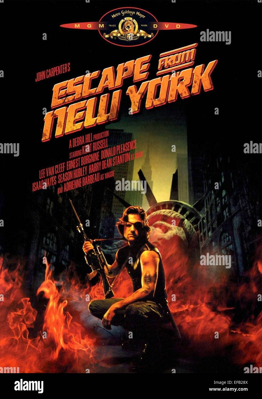 Escape From New York Poster.Kurt Russell Poster Escape From New York 1981 Stock Photo 78304602