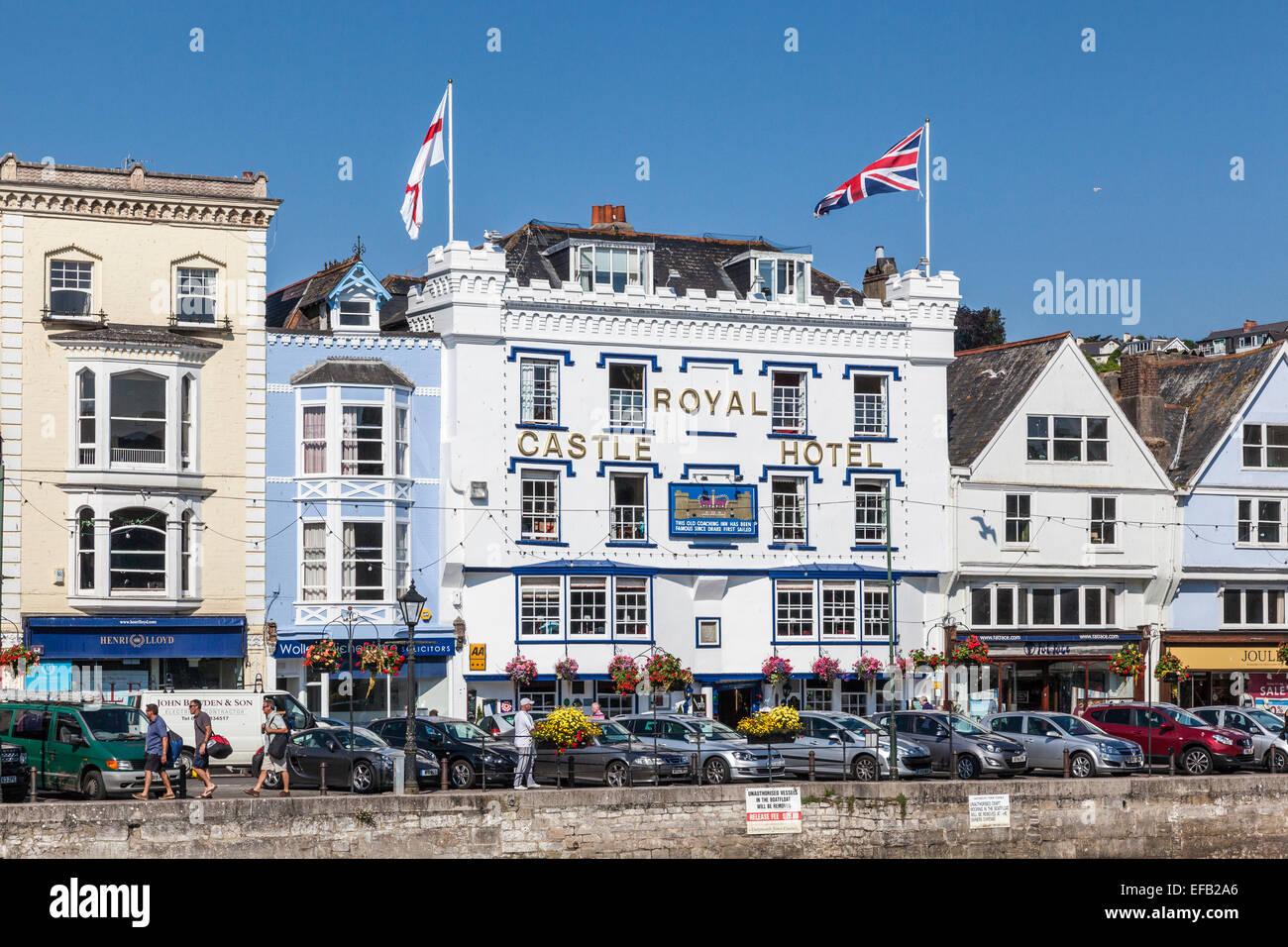 Royal Castle Hotel in Dartmouth South Devon, UK Stock Photo