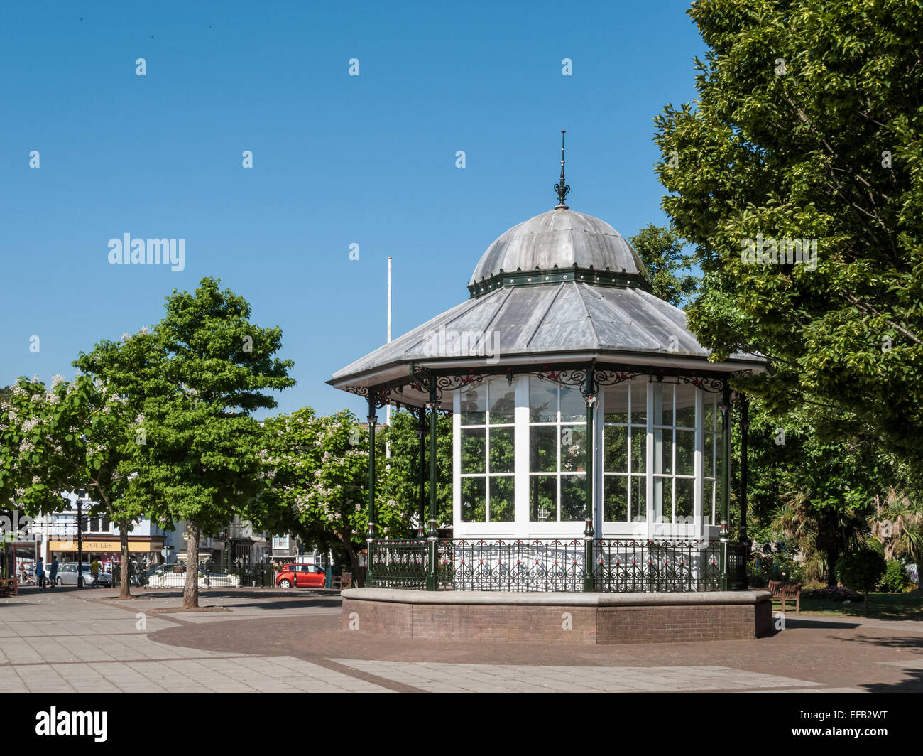 Dartmouth Bandstand in Devon, UK - Stock Image