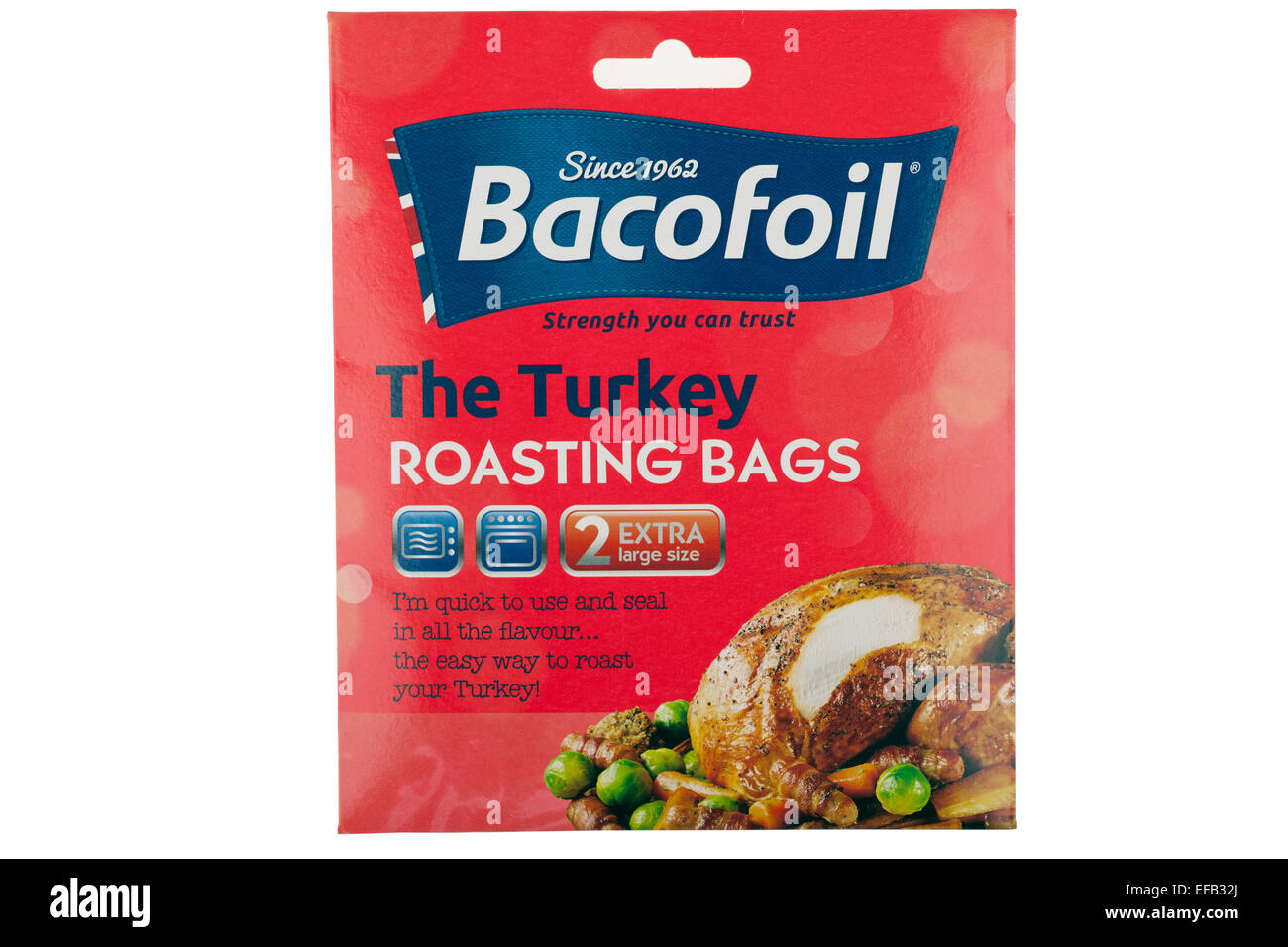 Pack of Bacofoil The Turkey roasting bags - Stock Image