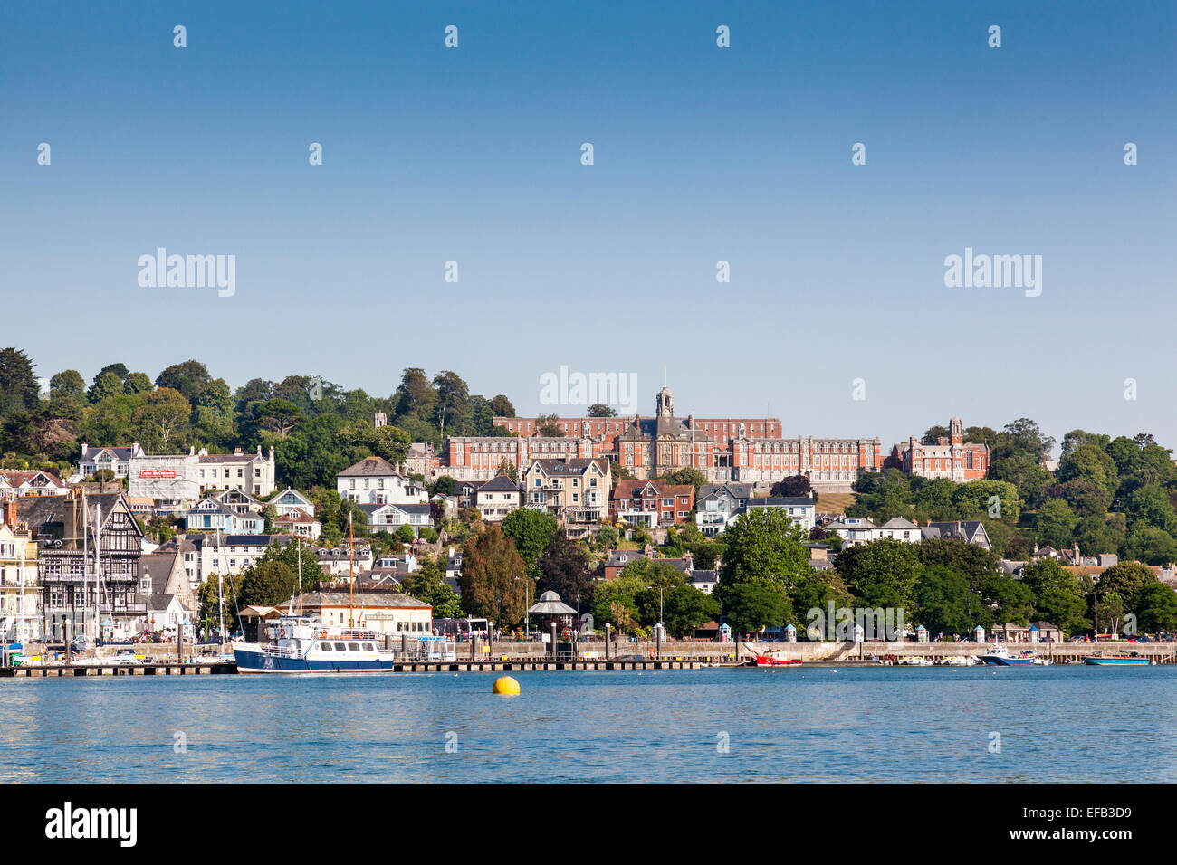 Dartmouth Naval  College Collage from the River Dart Stock Photo