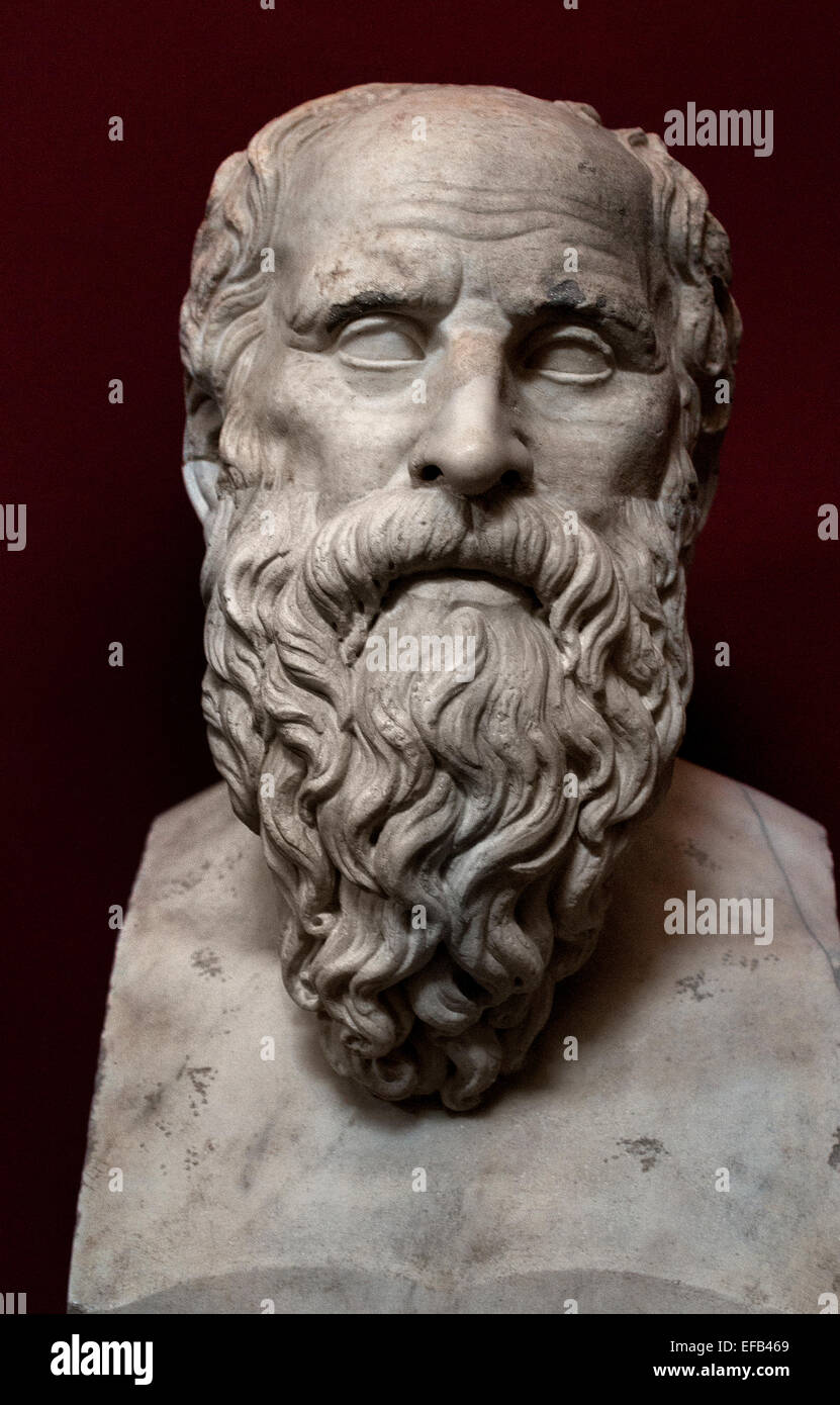 Diogenes Greek philosopher ( 413-323 BC ) Philosophy  ( Vatican Museum Rome Italy ) - Stock Image