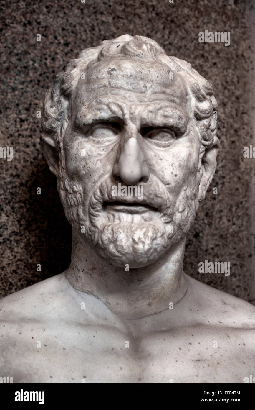 Demosthenes   384–322 BC prominent Greek statesman and orator of ancient Athens (  first century AD Vatican Museum - Stock Image