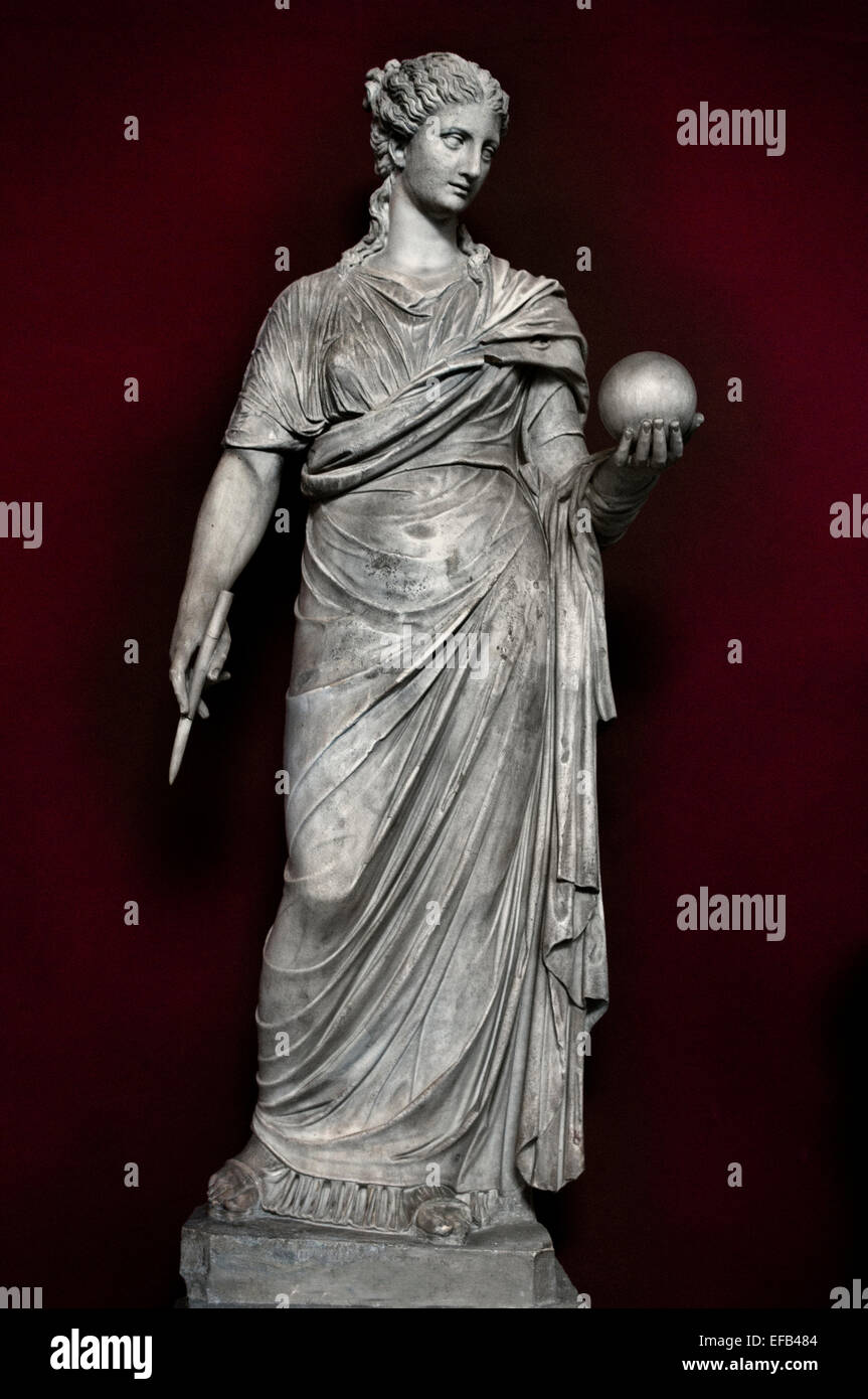 Urania, Muse of astronomy. Marble, head and torso: Roman copies after Greek originals from the 4th century BC, ( - Stock Image