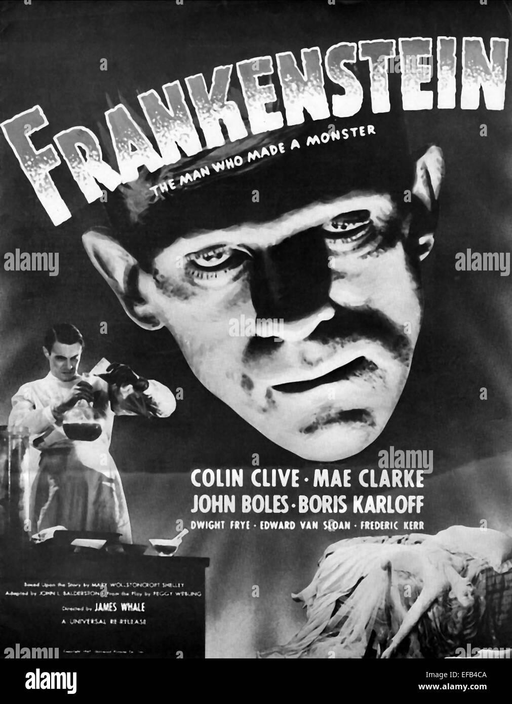 FIL877 Frankenstein Portrait 1931 Movie Poster Glossy Finish MCPoster