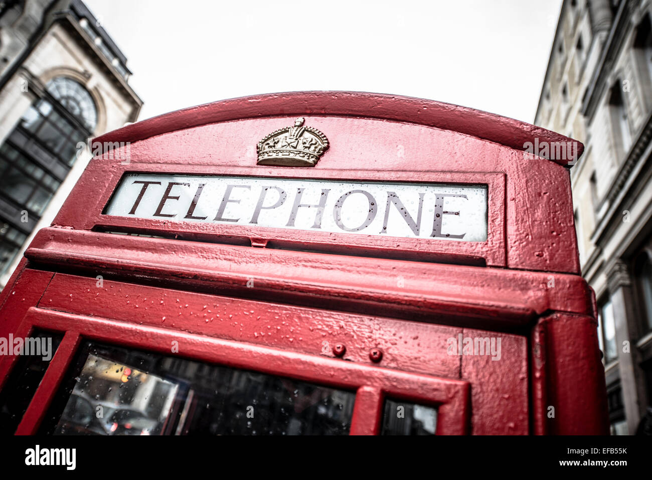 Red telephone box, London - Stock Image