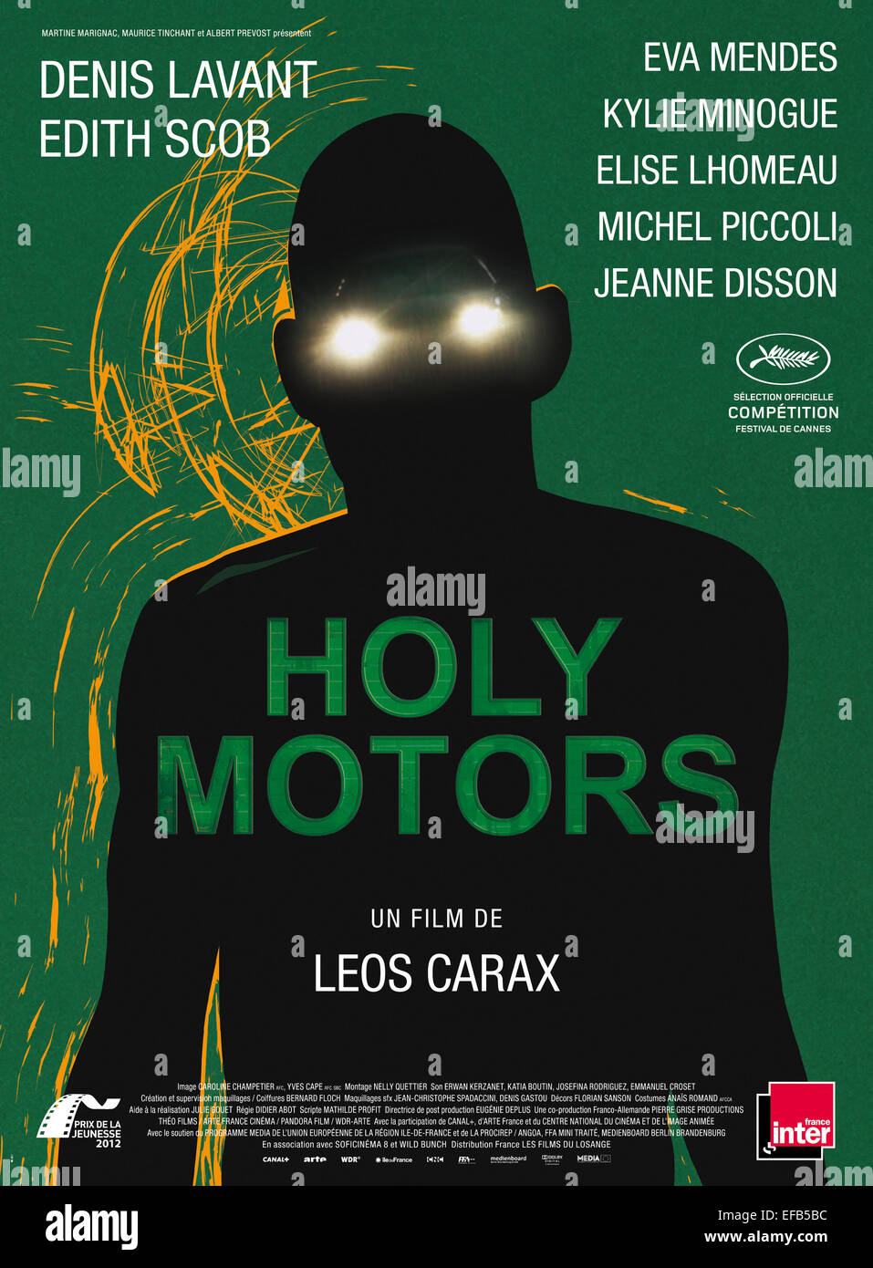 MOVIE POSTER HOLY MOTORS (2012) - Stock Image
