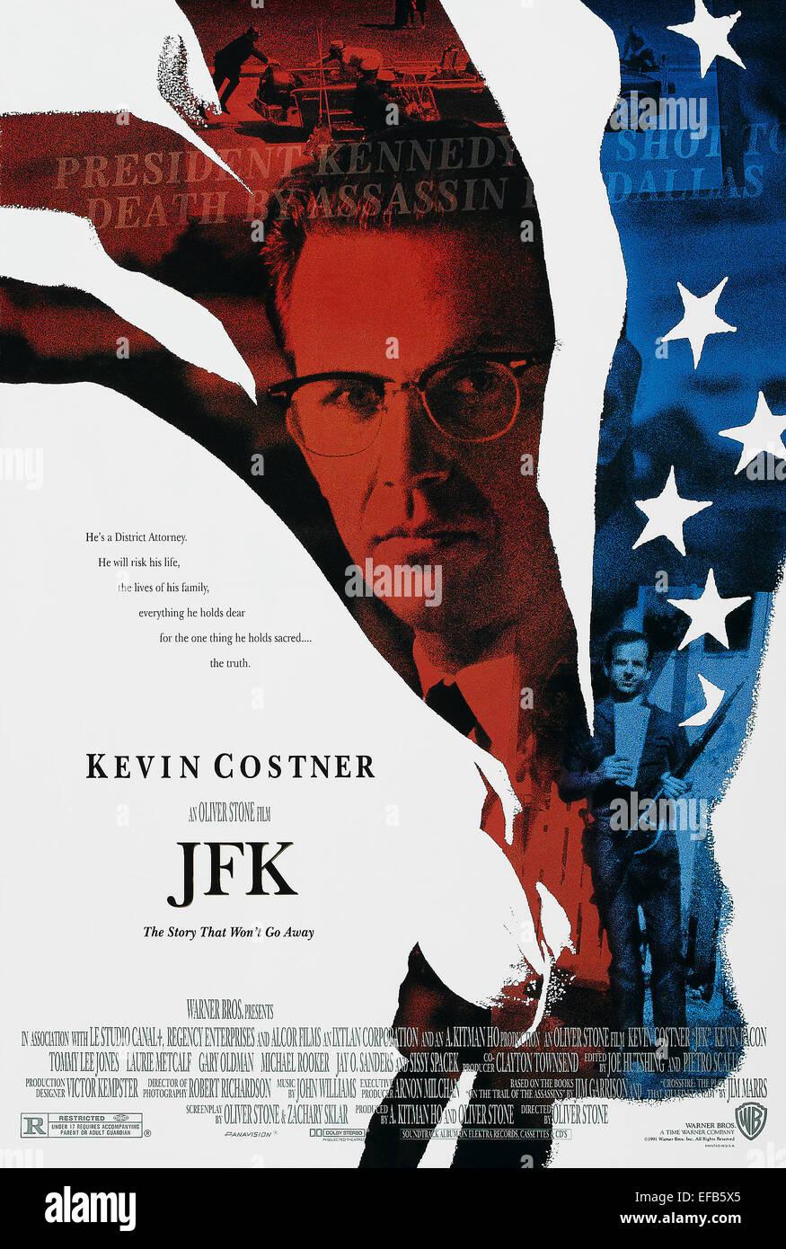 MOVIE POSTER JFK; J.F.K. (1991) - Stock Image