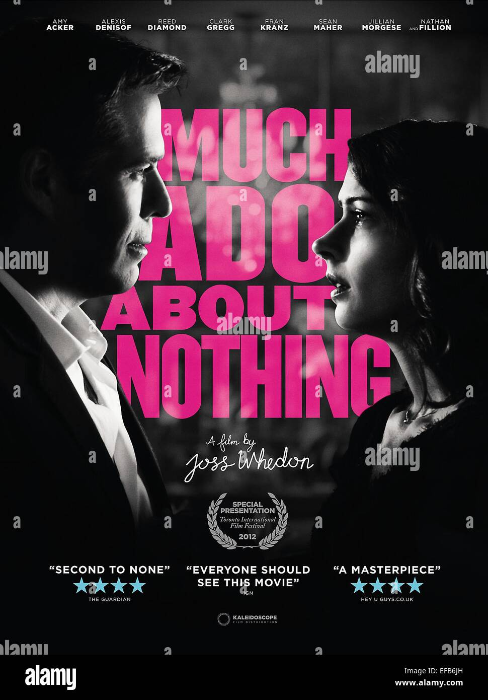 MOVIE POSTER MUCH ADO ABOUT NOTHING (2012) Stock Photo