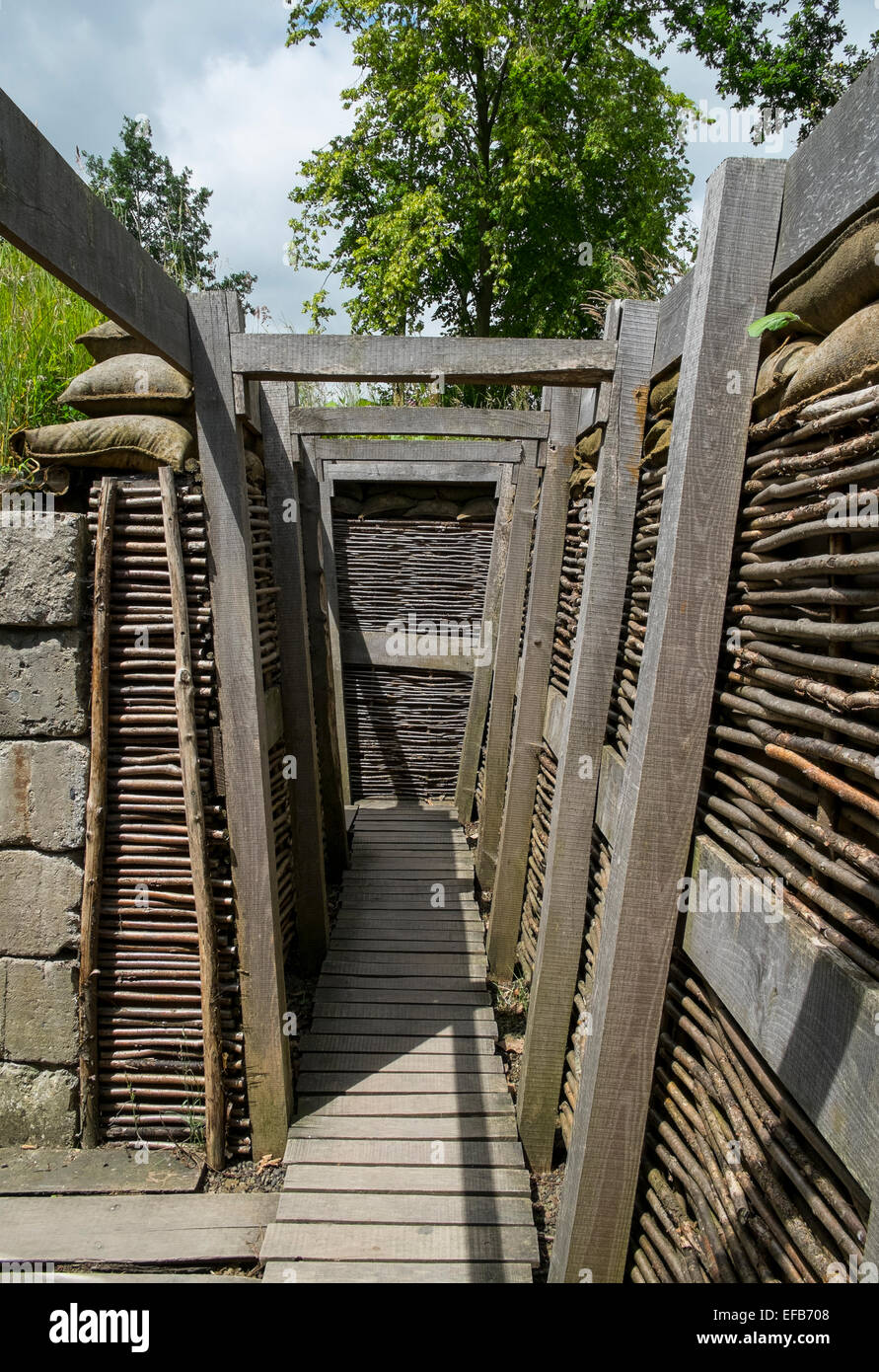 first world war trench ww1 - Stock Image