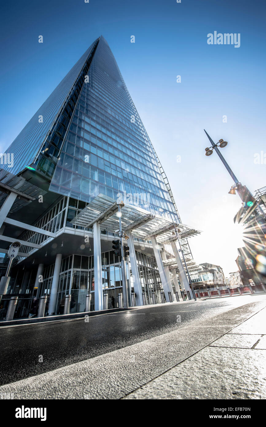 Low angle view of the Shard - Stock Image