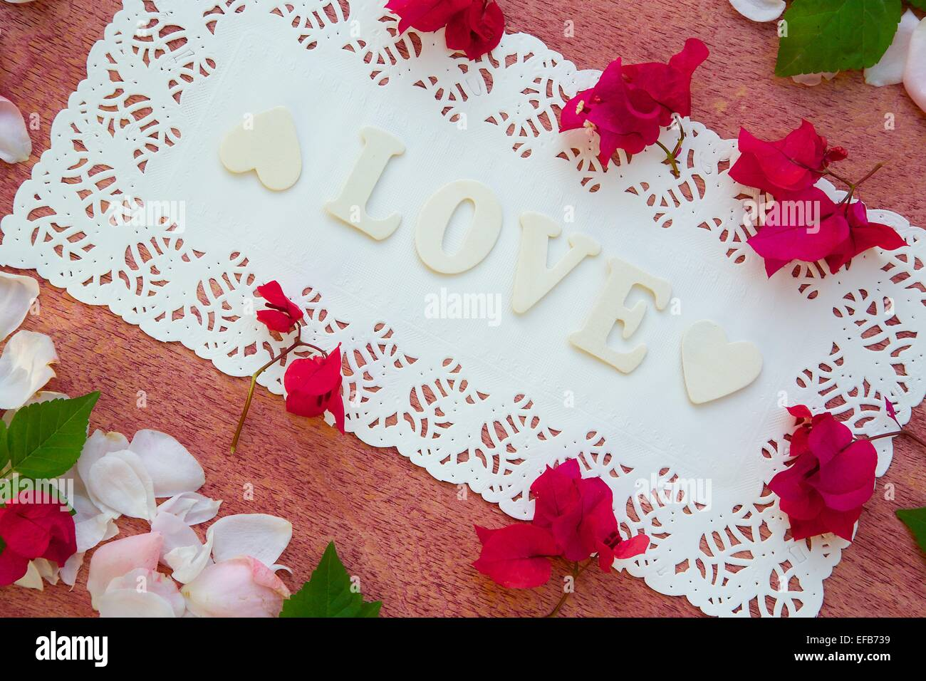 Flower seasonal background - Stock Image