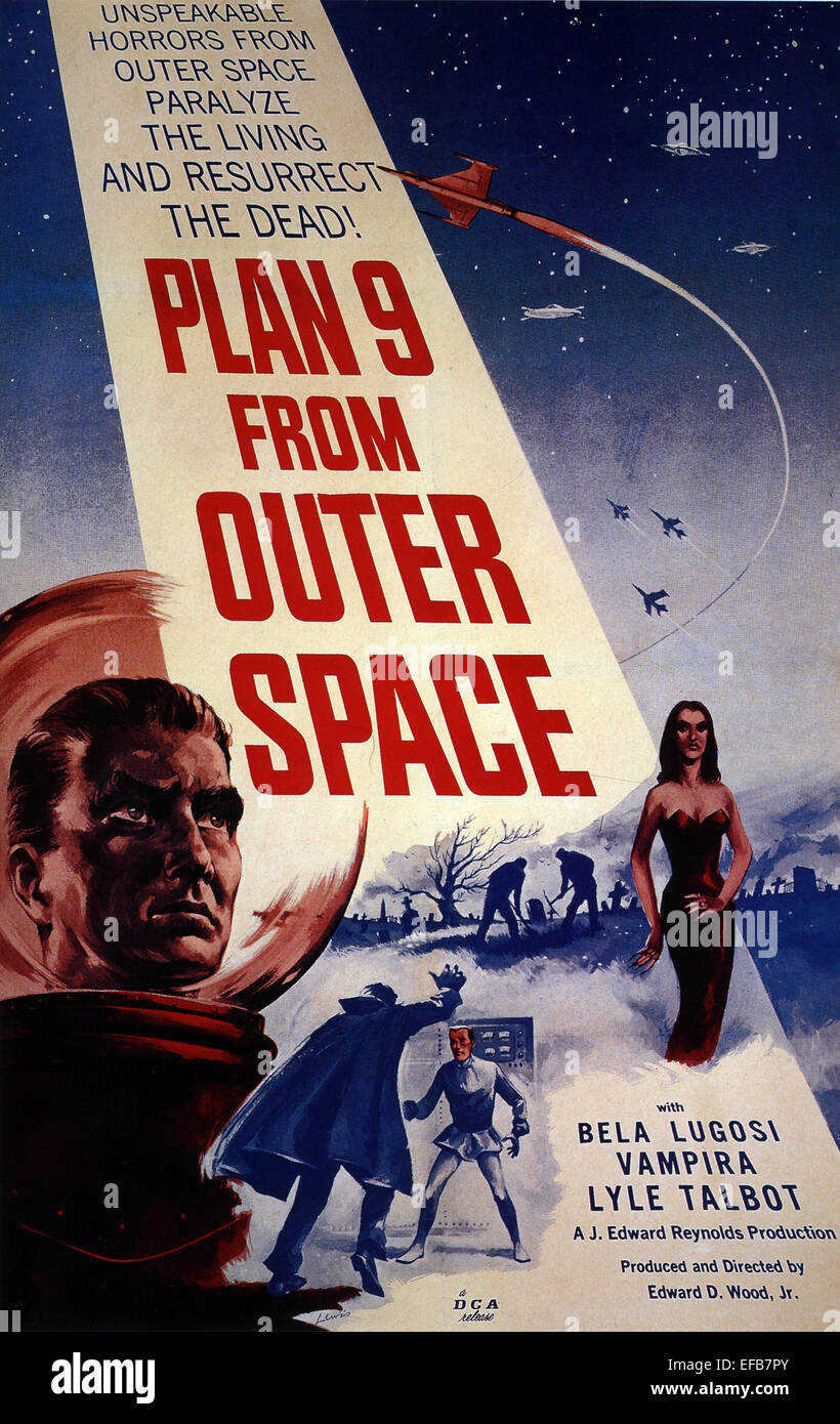 MOVIE POSTER PLAN 9 FROM OUTER SPACE (1959) - Stock Image
