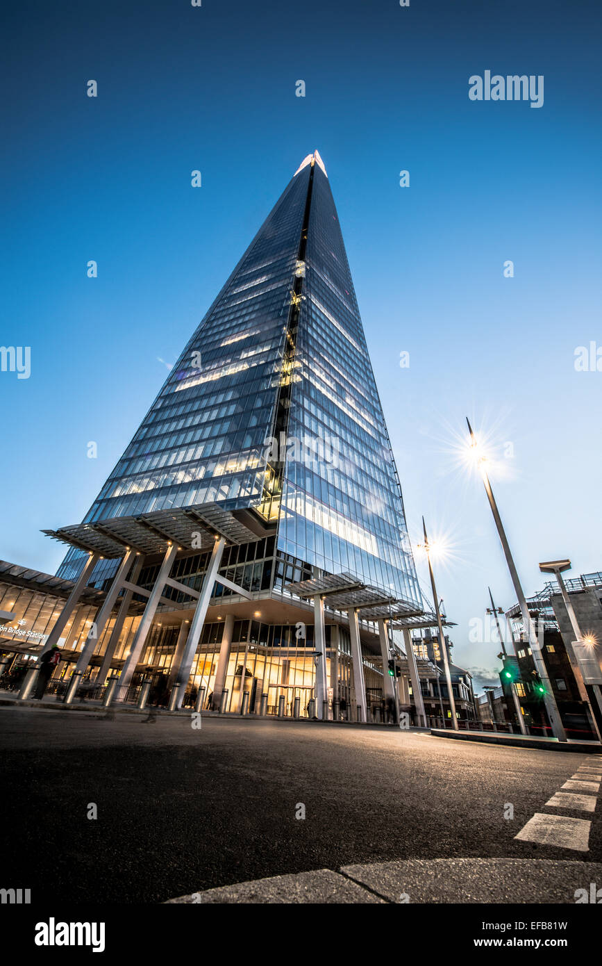 The Shard at night - Stock Image