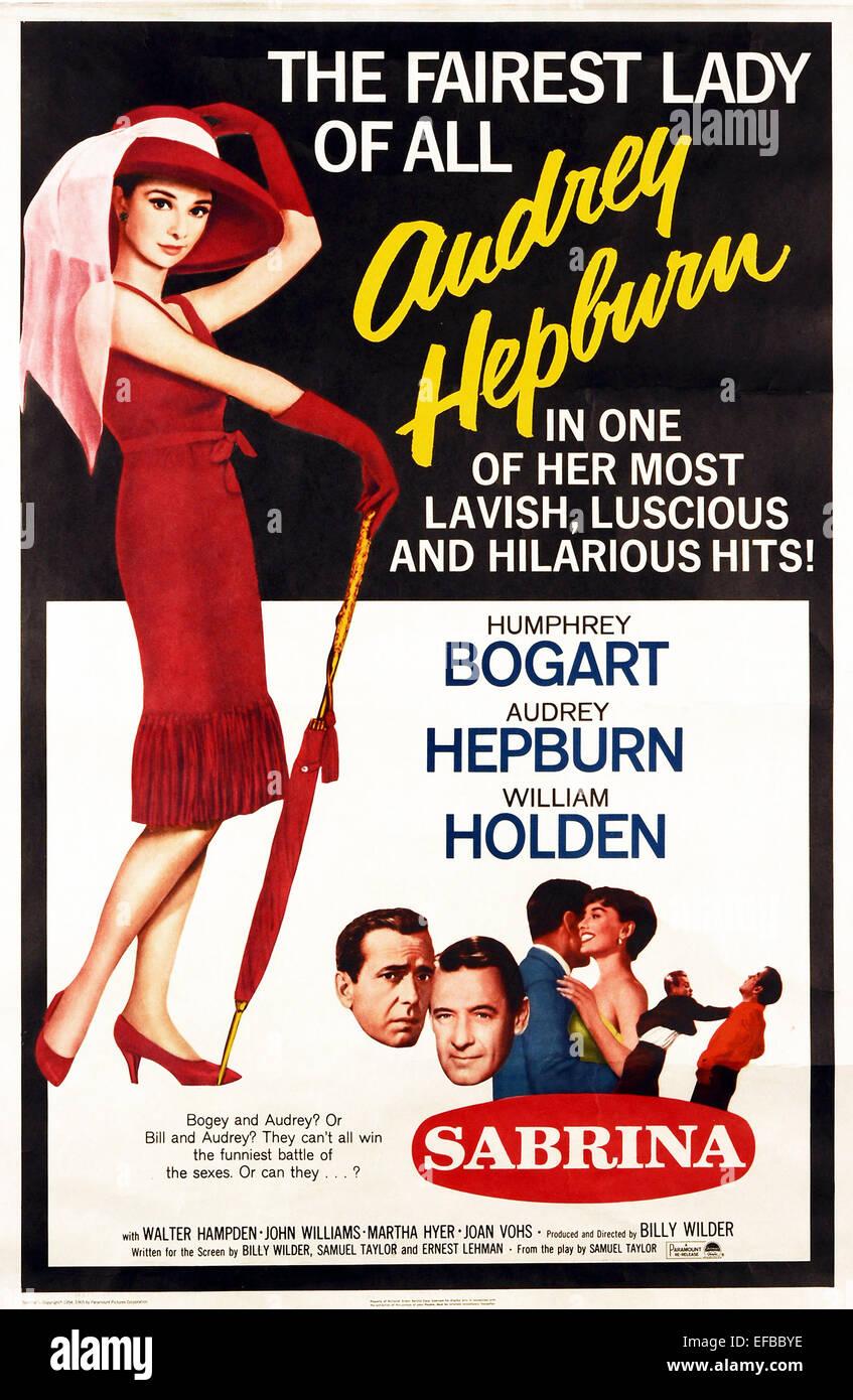 AUDREY HEPBURN POSTER SABRINA; SABRINA FAIR (1954 Stock Photo ...