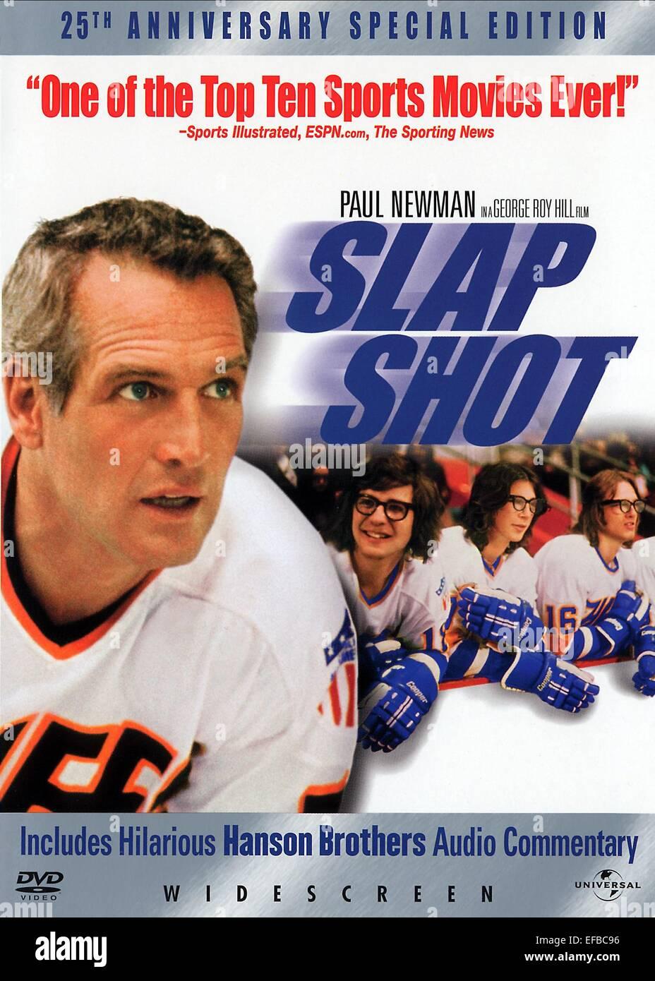 PAUL NEWMAN POSTER SLAP SHOT (1977) - Stock Image