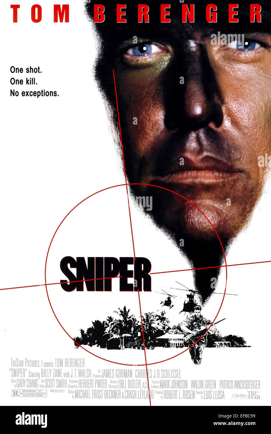 TOM BERENGER POSTER SNIPER (1993) - Stock Image