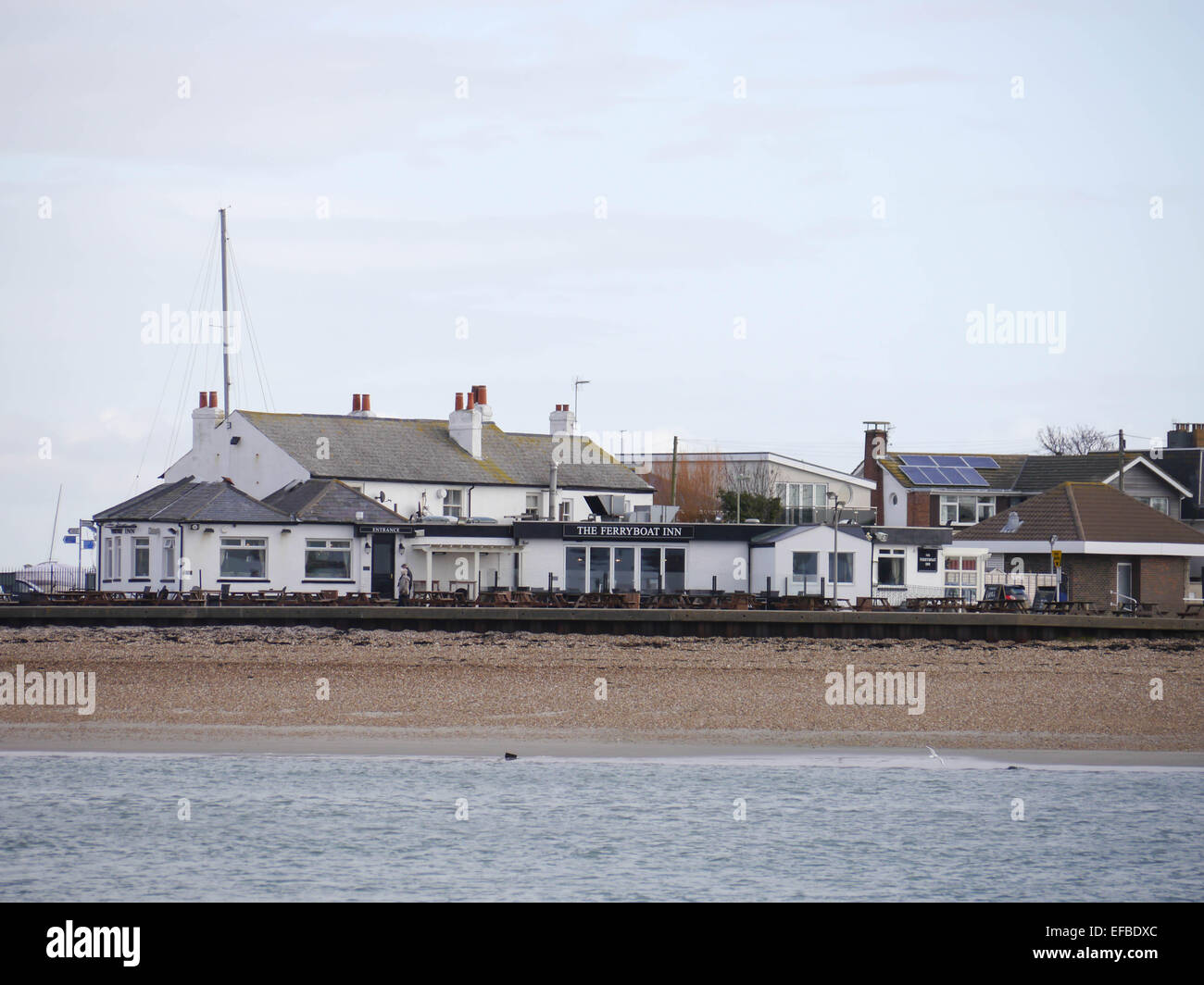 The ferry boat inn public house and restaurant on Hayling Island, Hampshire, England - Stock Image