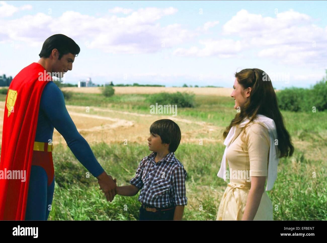 CHRISTOPHER REEVE, PAUL KAETHLER, ANNETTE O'TOOLE, SUPERMAN III, 1983 Stock Photo