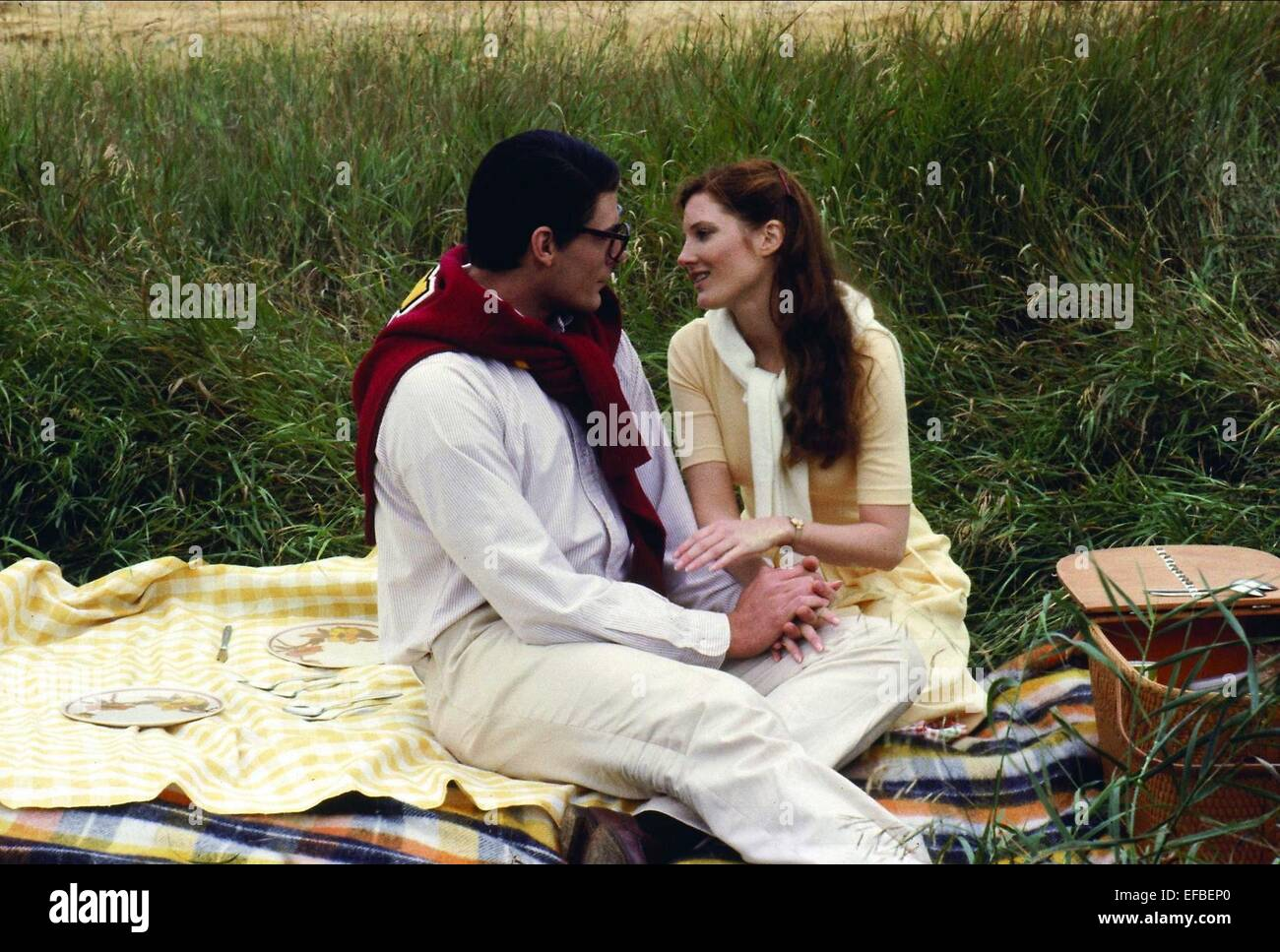 CHRISTOPHER REEVE, ANNETTE O'TOOLE, SUPERMAN III, 1983 Stock Photo