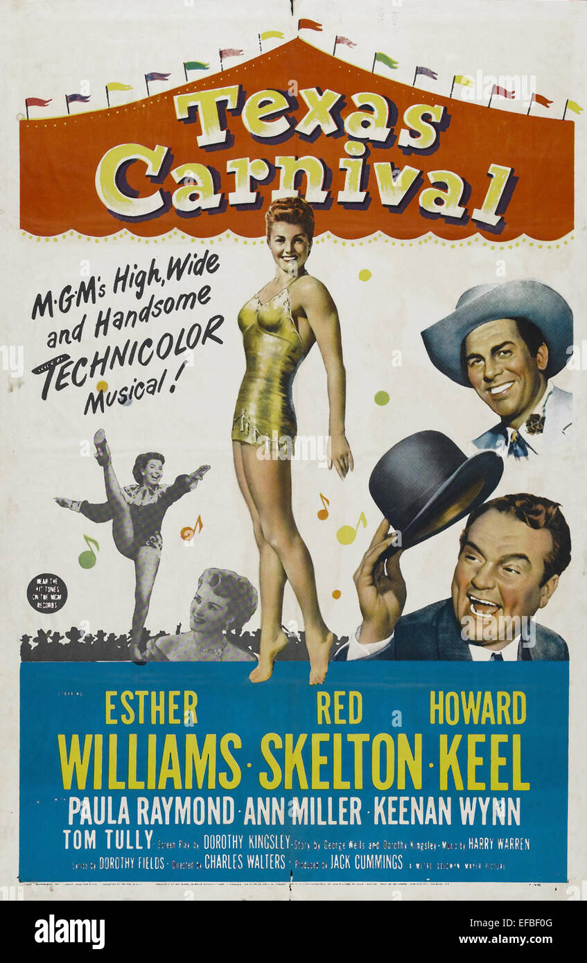 movie poster texas carnival 1951 stock photo 78314560 alamy