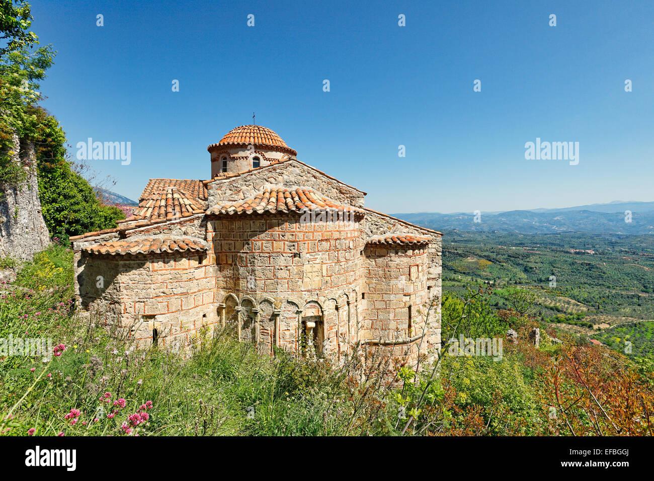 The church of Saint Nikolaos in Mystras, Greece - Stock Image