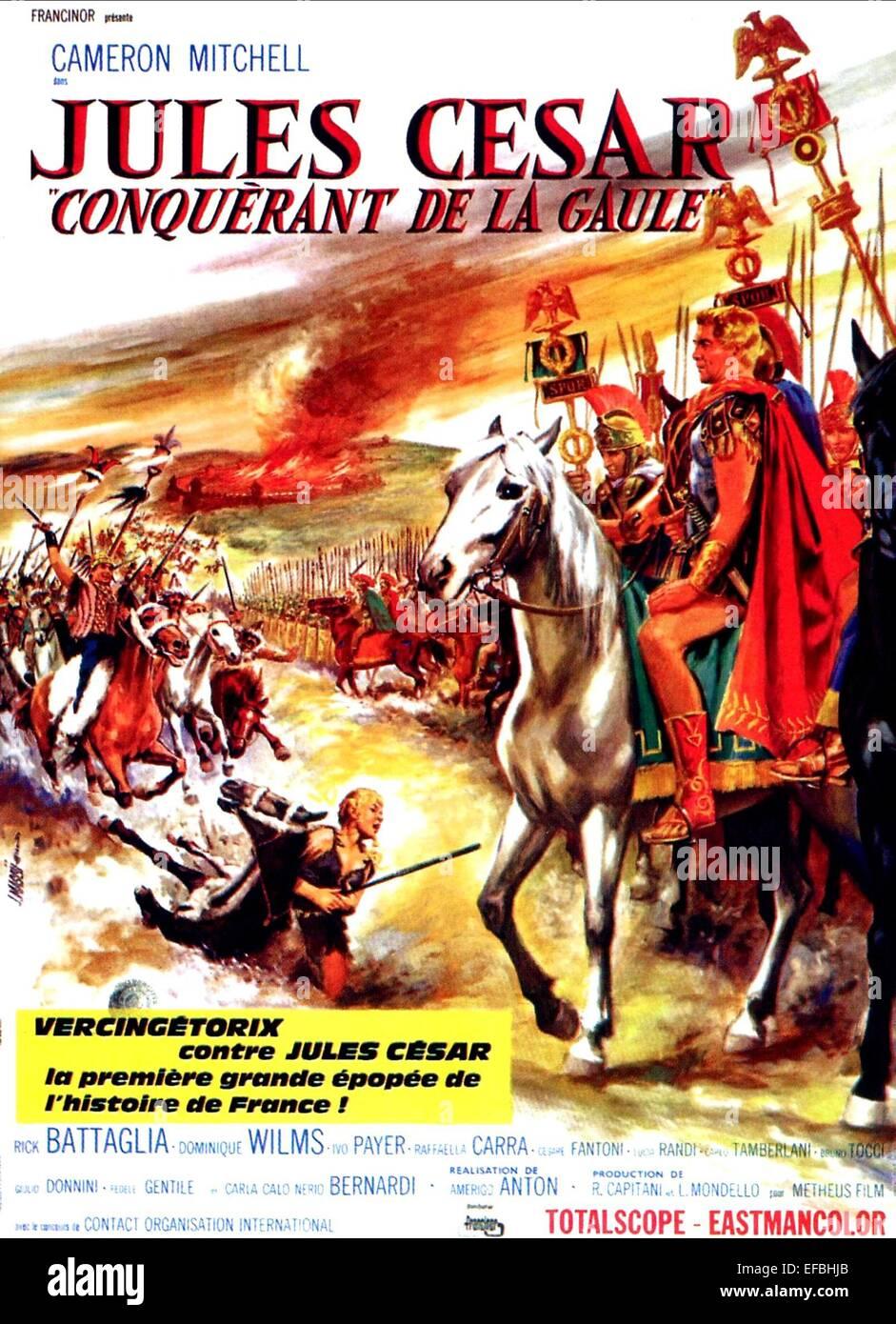 MOVIE POSTER CAESAR THE CONQUEROR (1962) - Stock Image