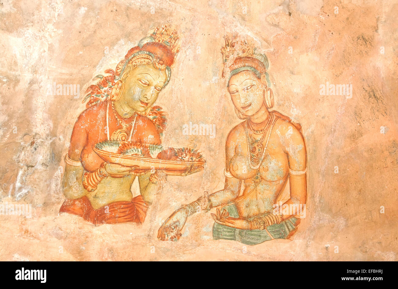 Sigiriya Rock Cave Wall Paintings Stock Photos & Sigiriya Rock Cave ...