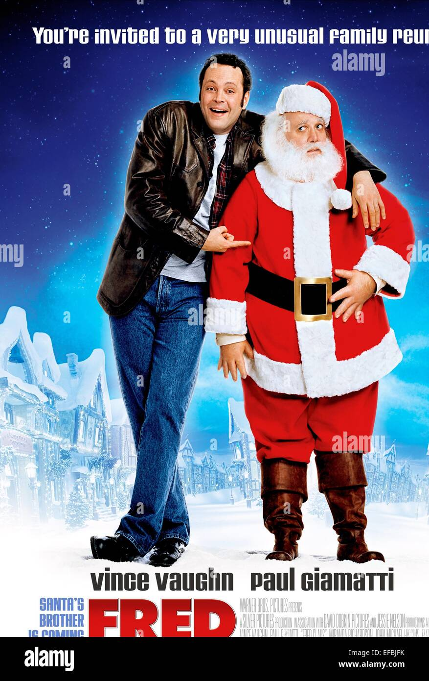 vince vaughn paul giamatti poster fred claus 2007 stock image - Vince Vaughn Christmas Movie