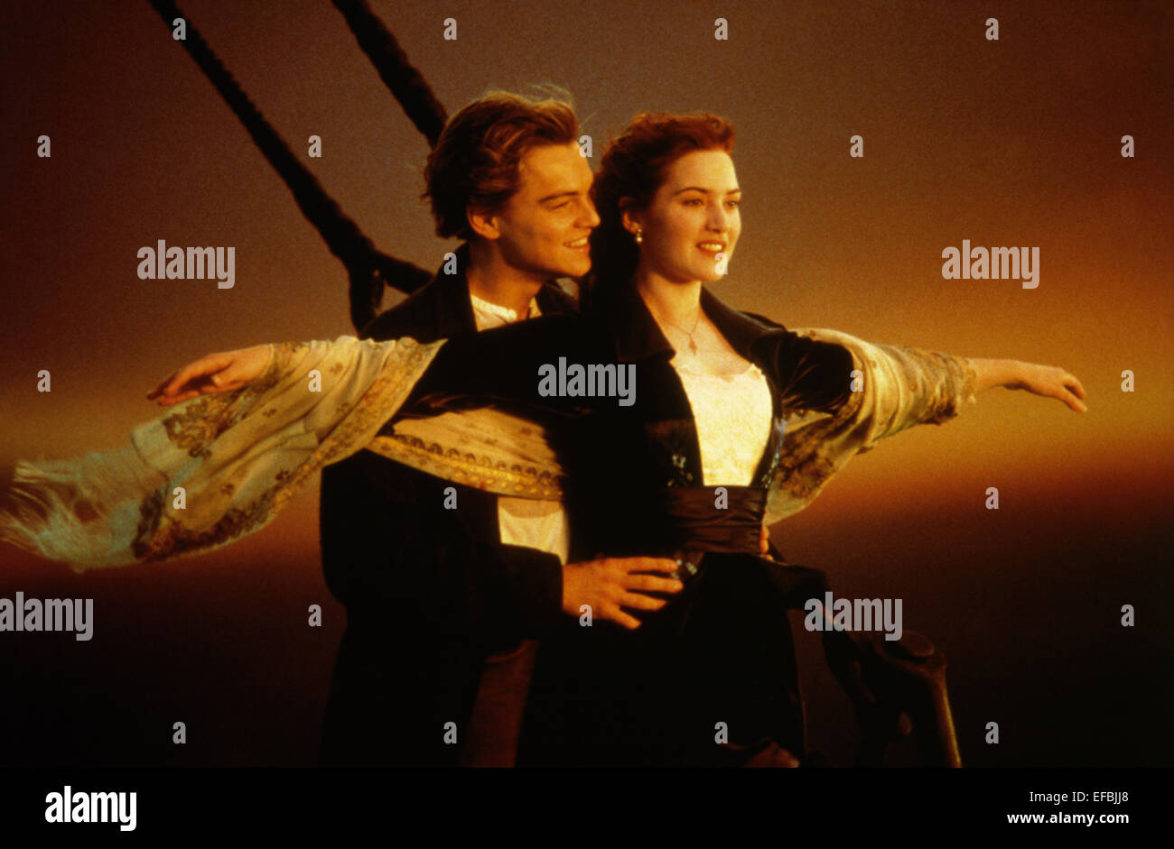 LEONARDO DICAPRIO, KATE WINSLET, TITANIC, 1997 - Stock Image