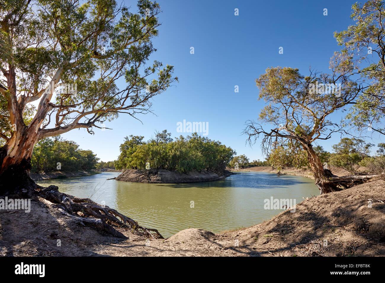 Darling River, Menindee ,New South Wales, Australia. - Stock Image