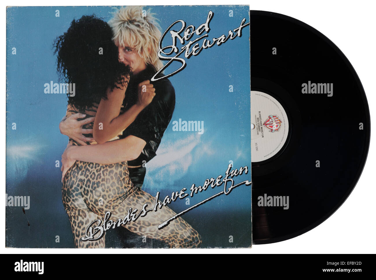 Blondes have More Fun by Rod Stewart - Stock Image