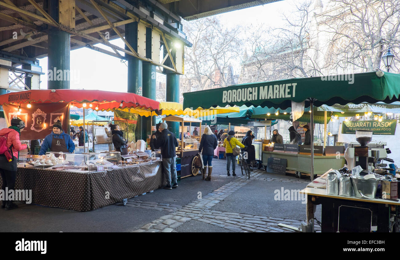 Borough Market, London, England - Stock Image
