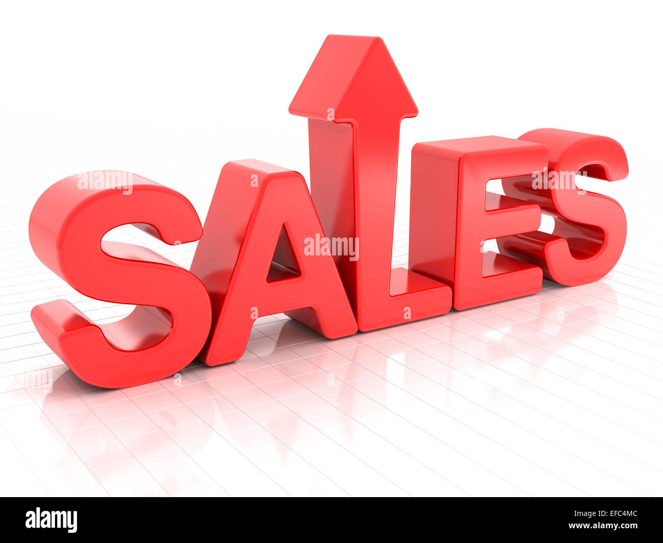 Sales increase - Stock Image