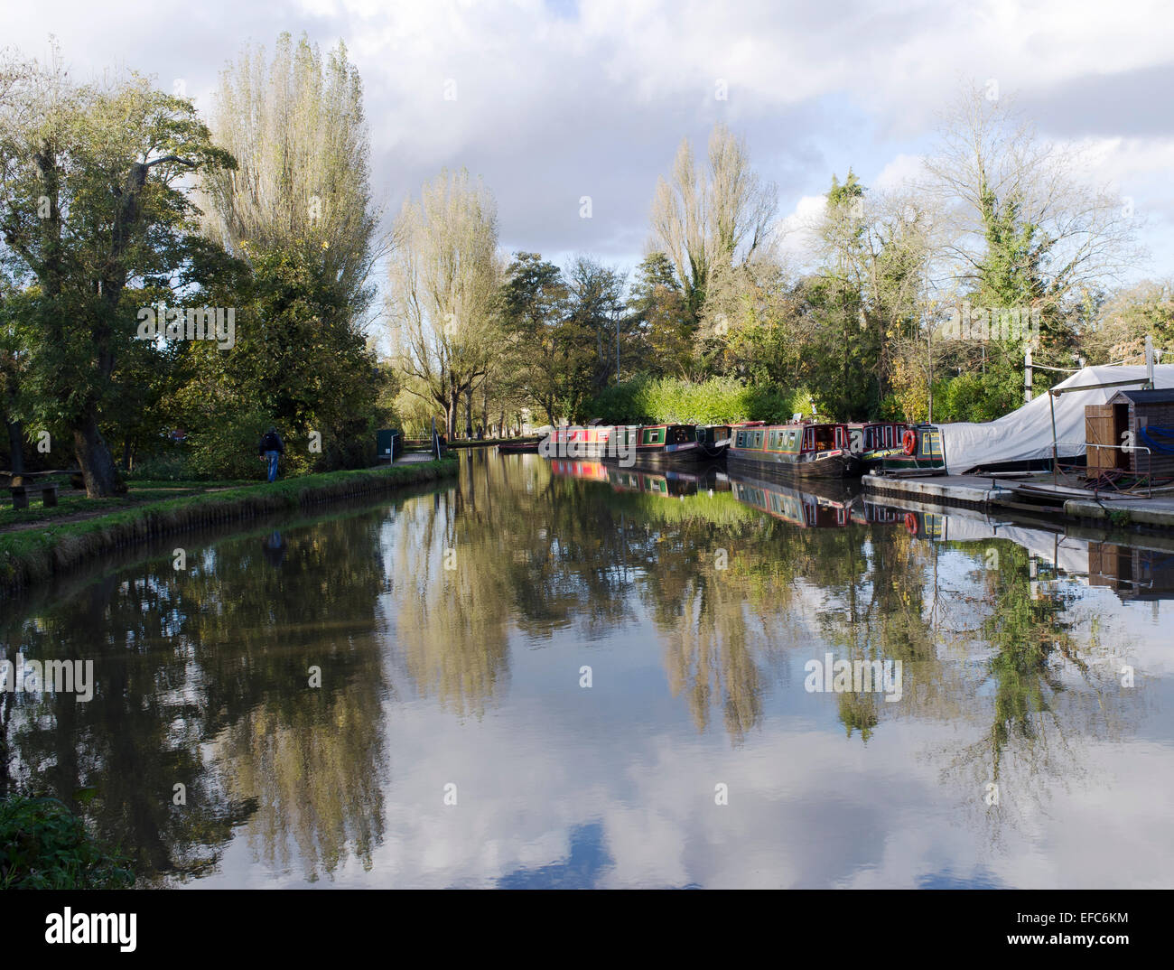 The Wey Navigation at Guildford, Surrey - 2 - Stock Image