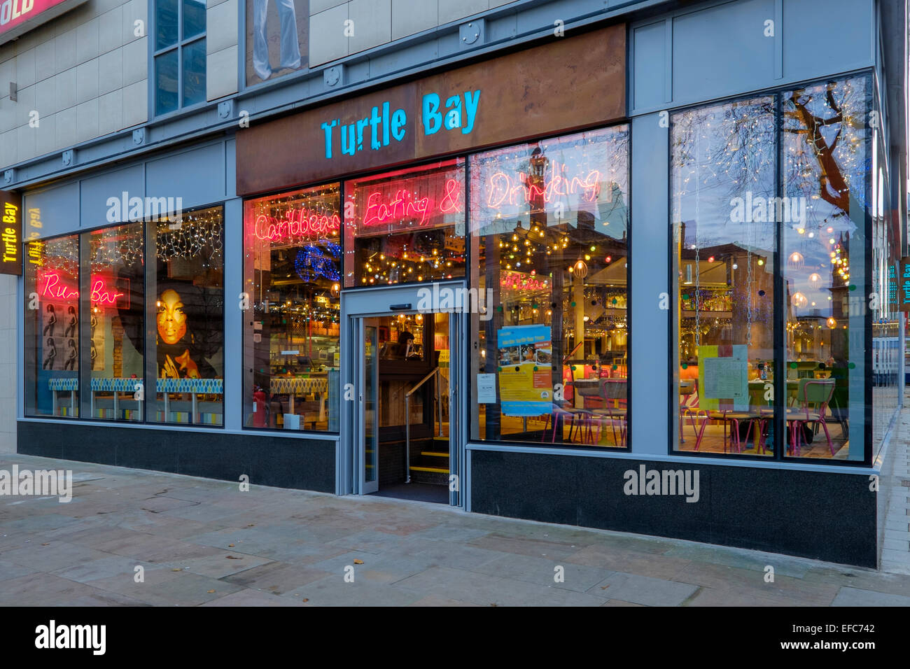 Turtle Bay Restaurant Preston - Stock Image