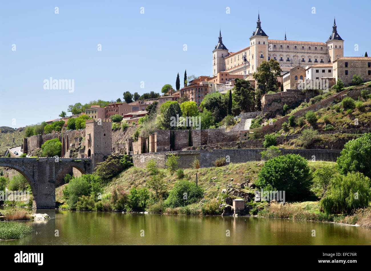 Toledo and Tagus river, Spain - Stock Image